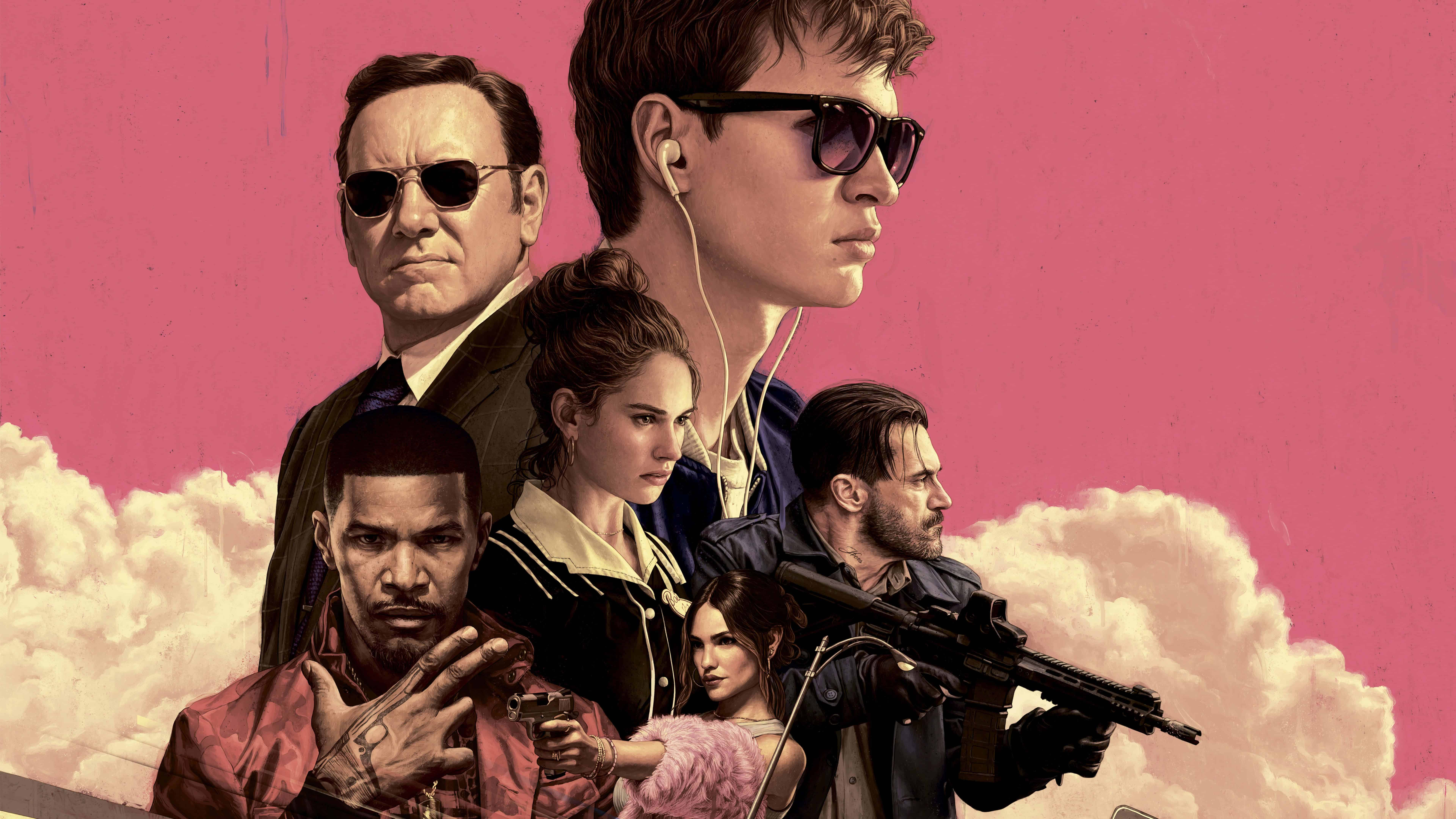 baby driver uhd 8k wallpaper