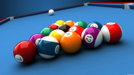 billiard balls uhd 8k wallpaper