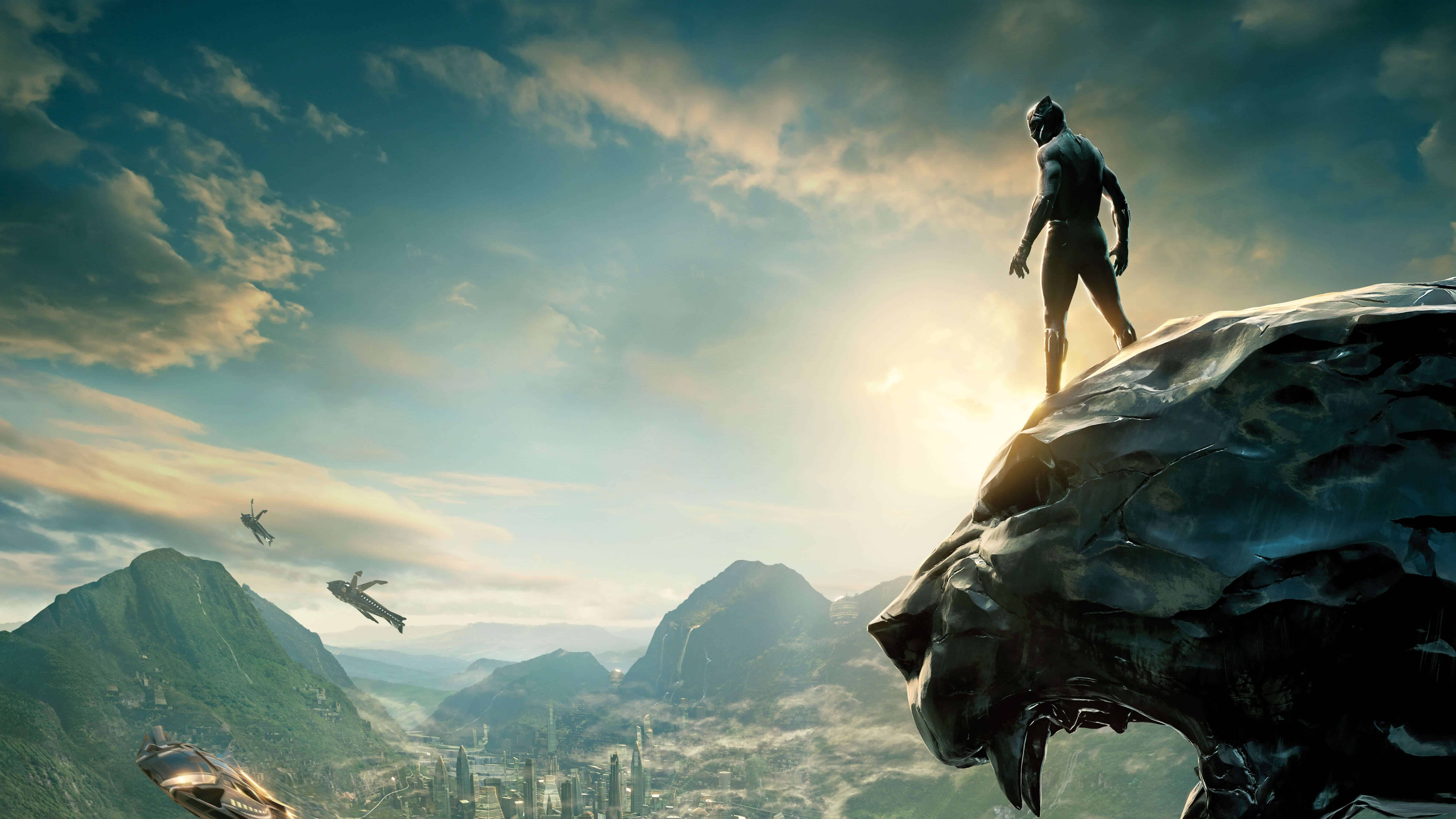 black panther movie cover uhd 8k wallpaper