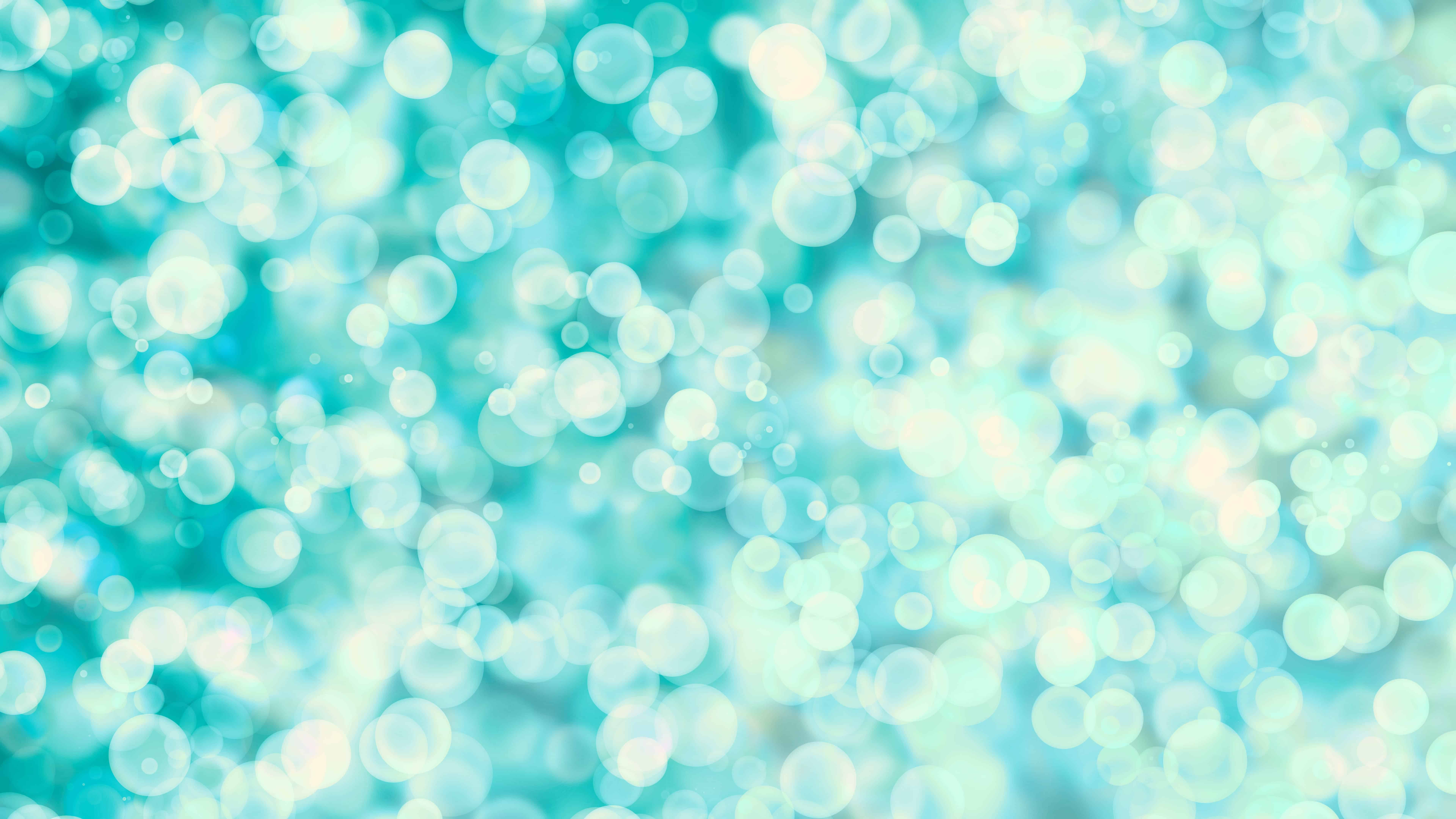 blue and green and white bubbles uhd 8k wallpaper