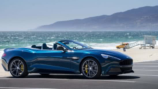 blue aston martin vanquish volante convertible uhd 4k wallpaper
