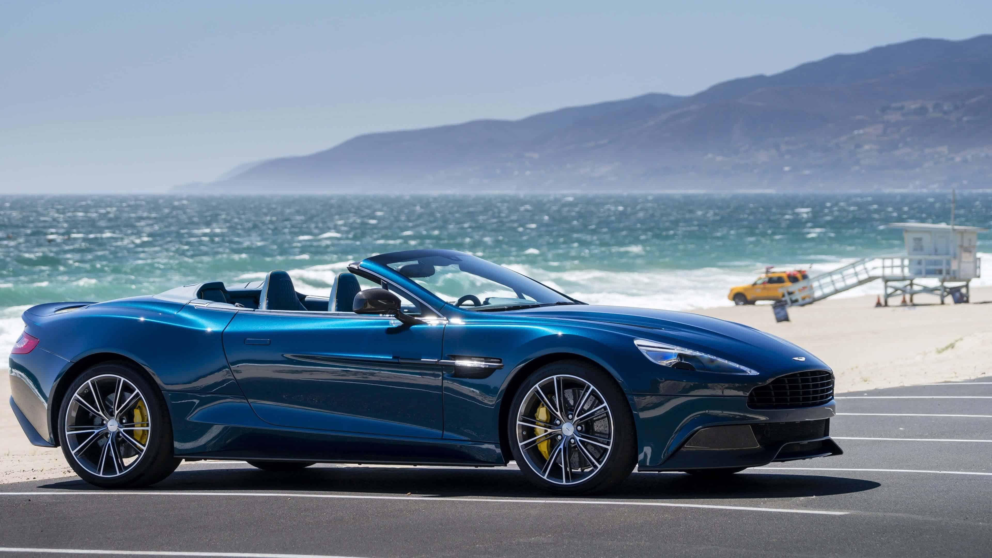 Blue Aston Martin Vanquish Volante Convertible Uhd 4k Wallpaper Pixelz Cc