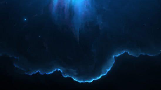 blue nebula uhd 8k wallpaper
