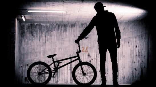 bmx rider silhouette uhd 8k wallpaper
