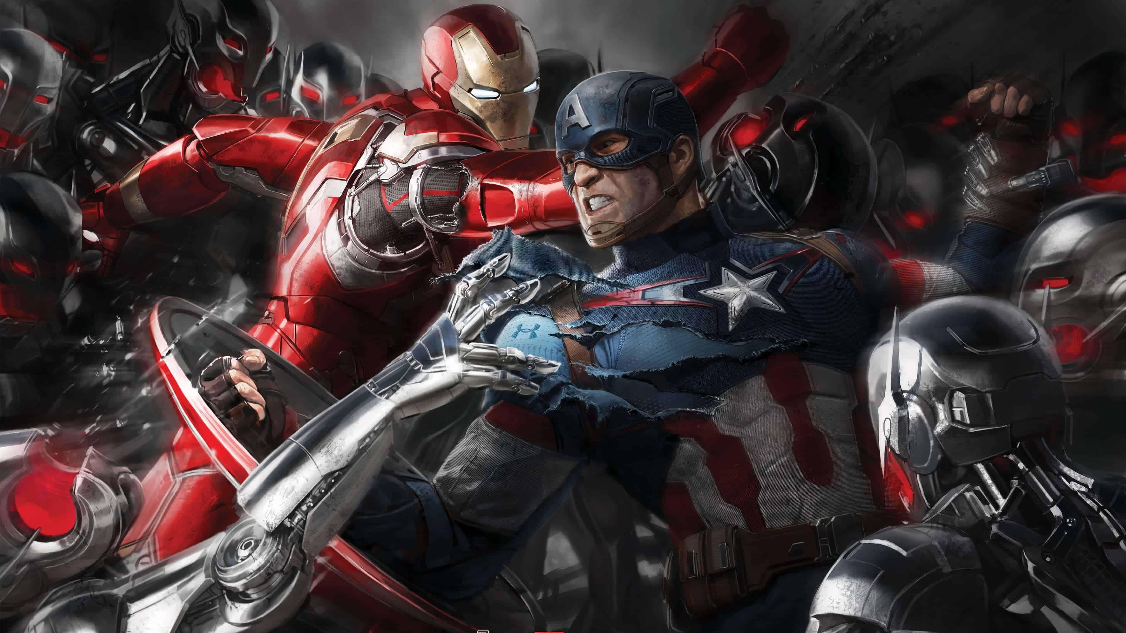 Captain America Civil War 4k: Captain America And Iron Man Civil War UHD 4K Wallpaper