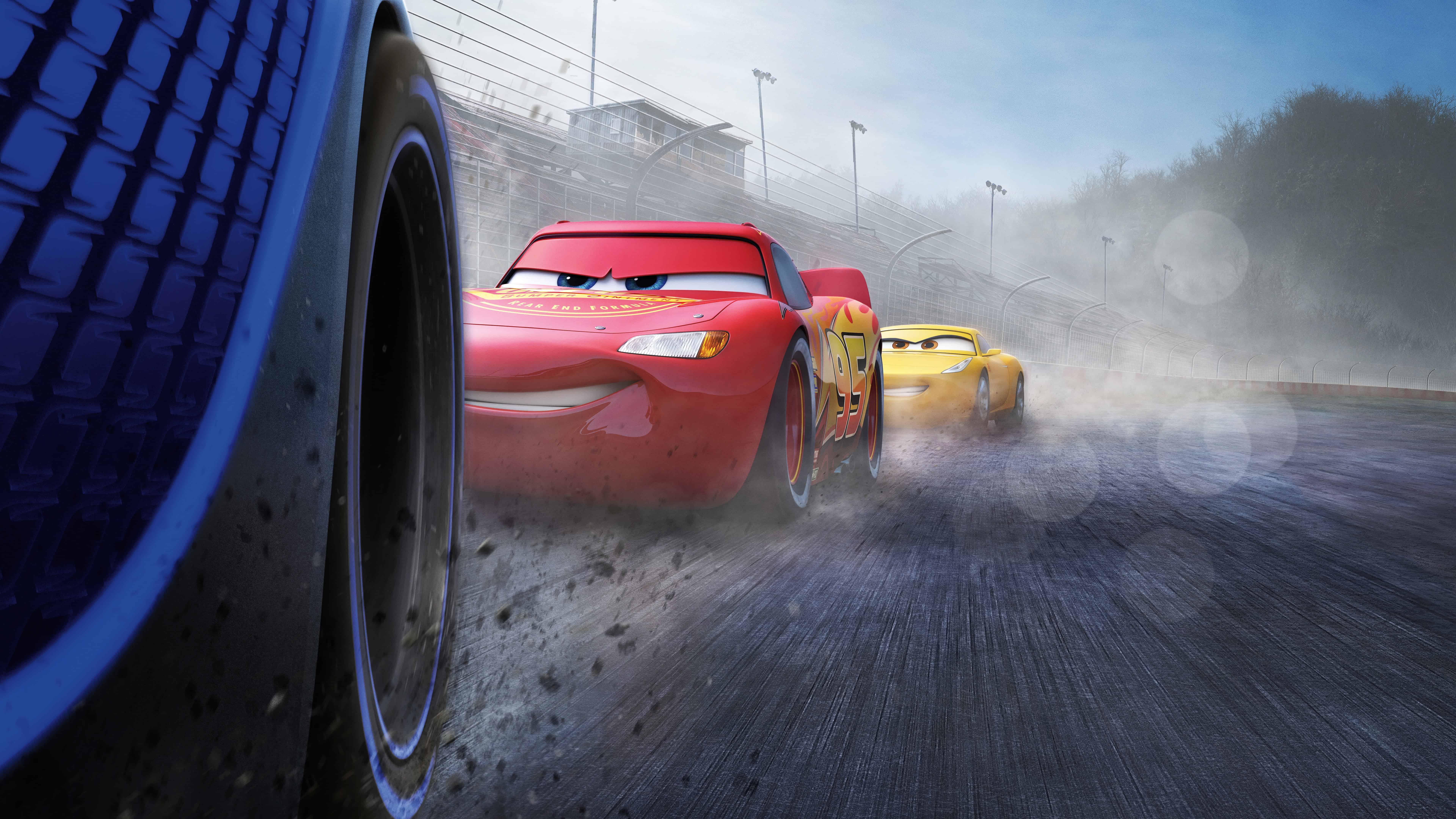 cars 3 jackson storm vs cruz ramirez uhd 8k wallpaper