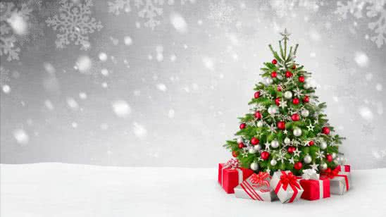 christmas tree and gifts uhd 4k wallpaper