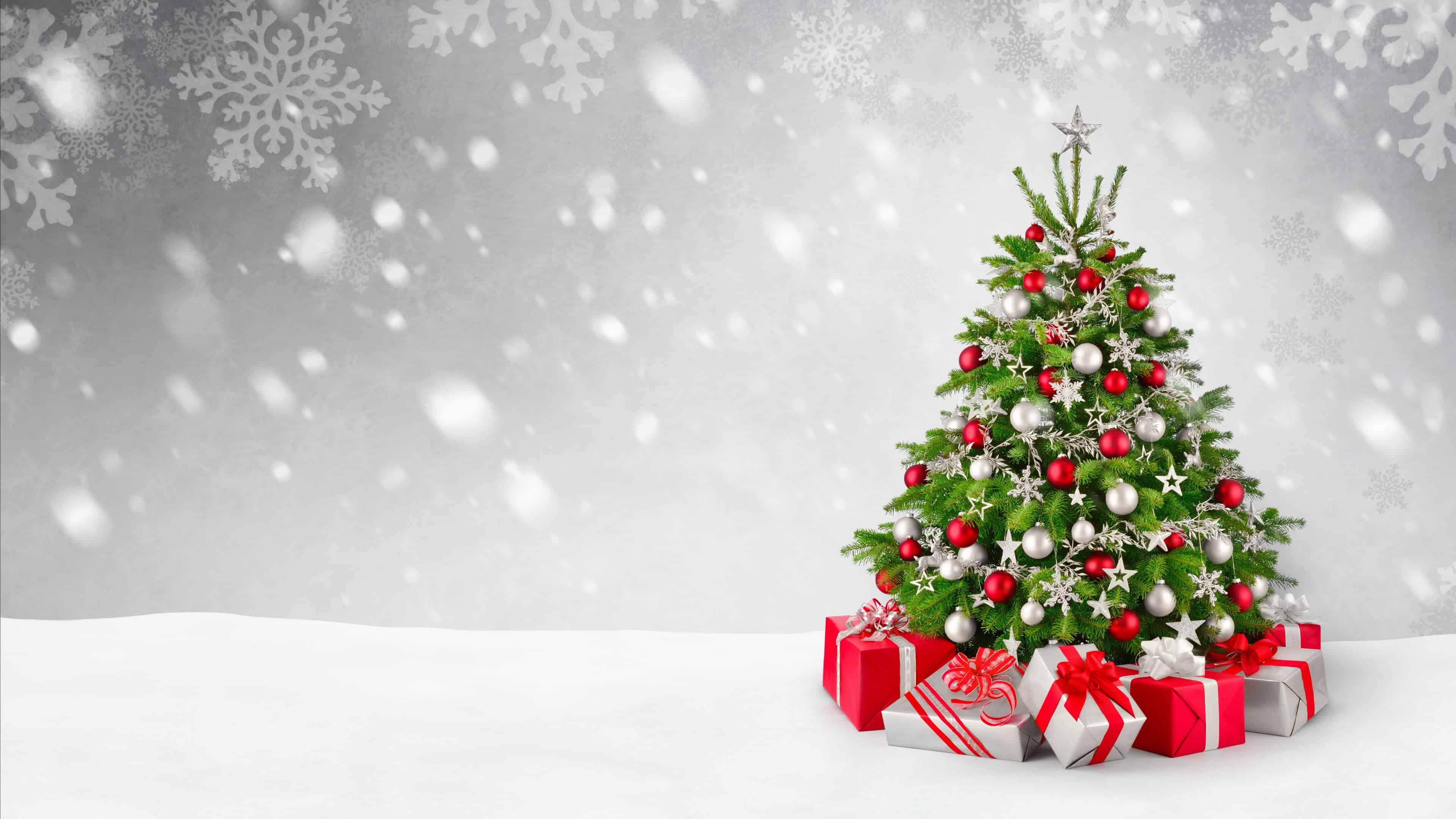 christmas tree and gifts uhd 4k wallpaper