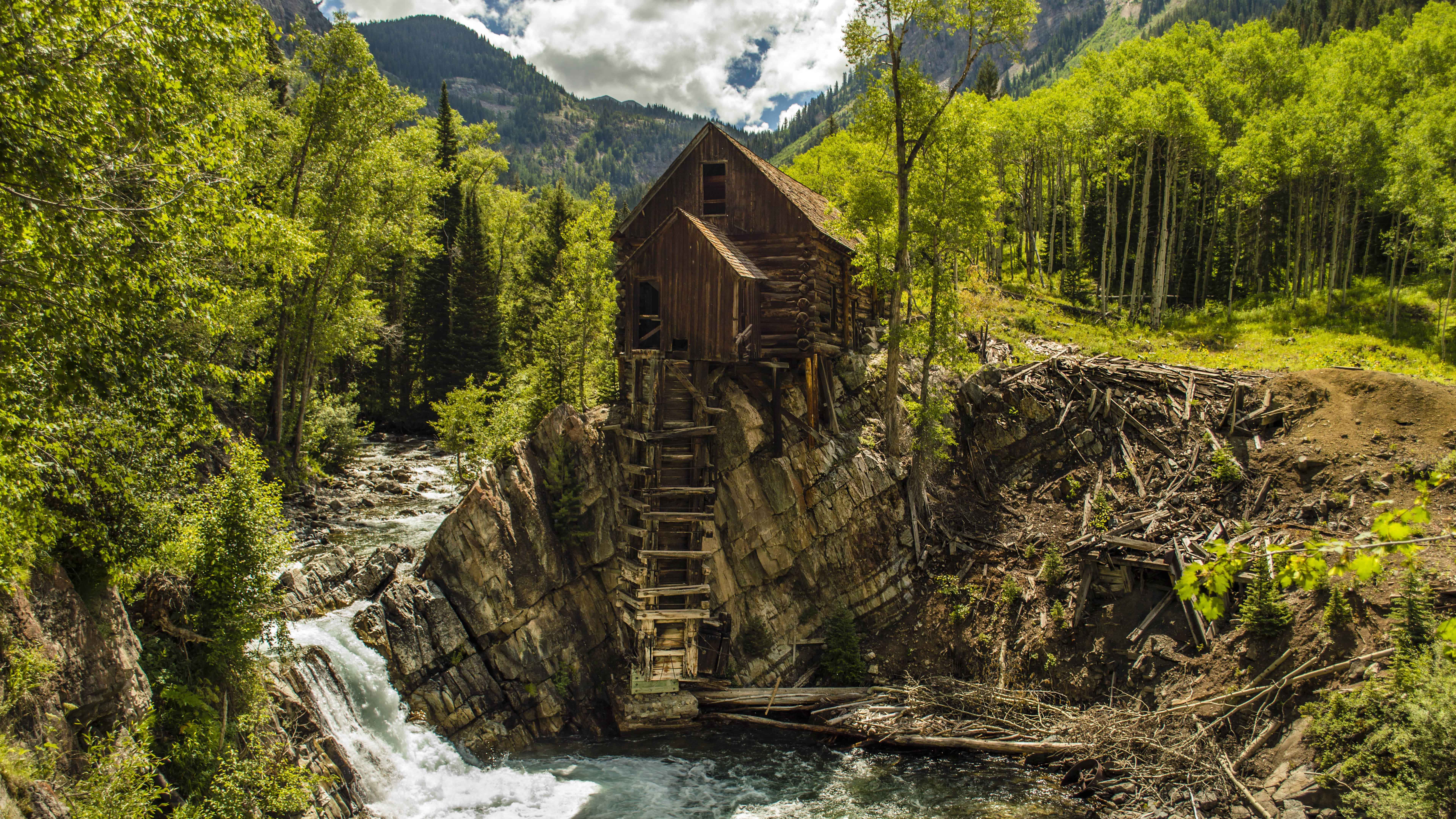 crystal mill crystal river colorado united states uhd 8k wallpaper