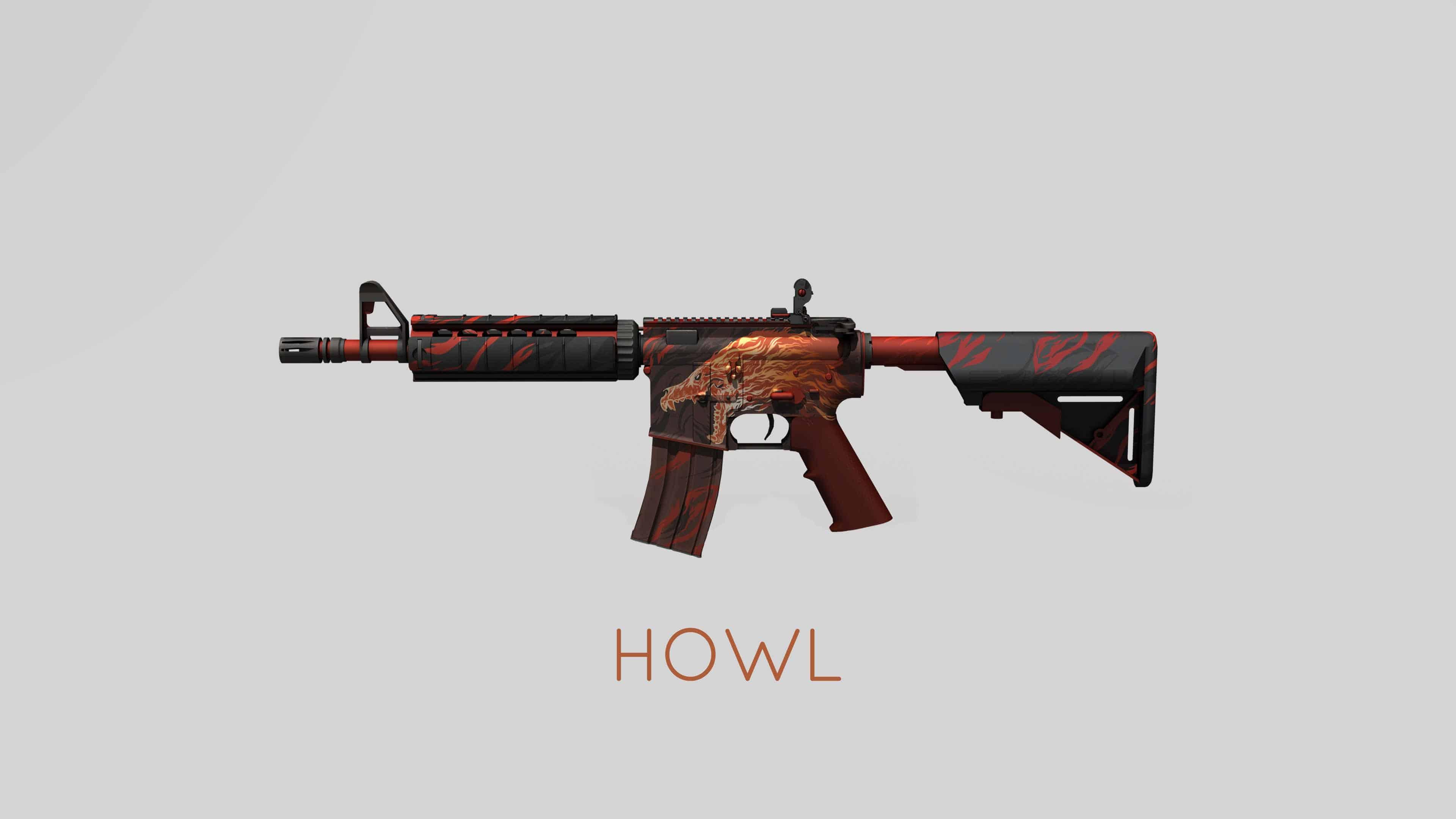 cs go m4a4 howl skin uhd 4k wallpaper