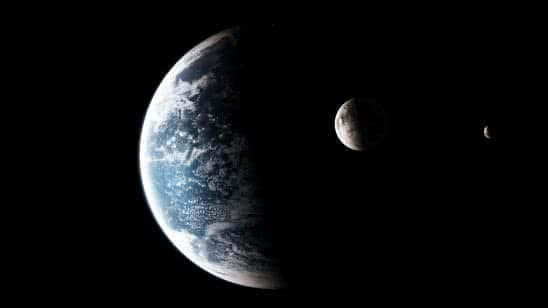 earth and moon uhd 8k wallpaper