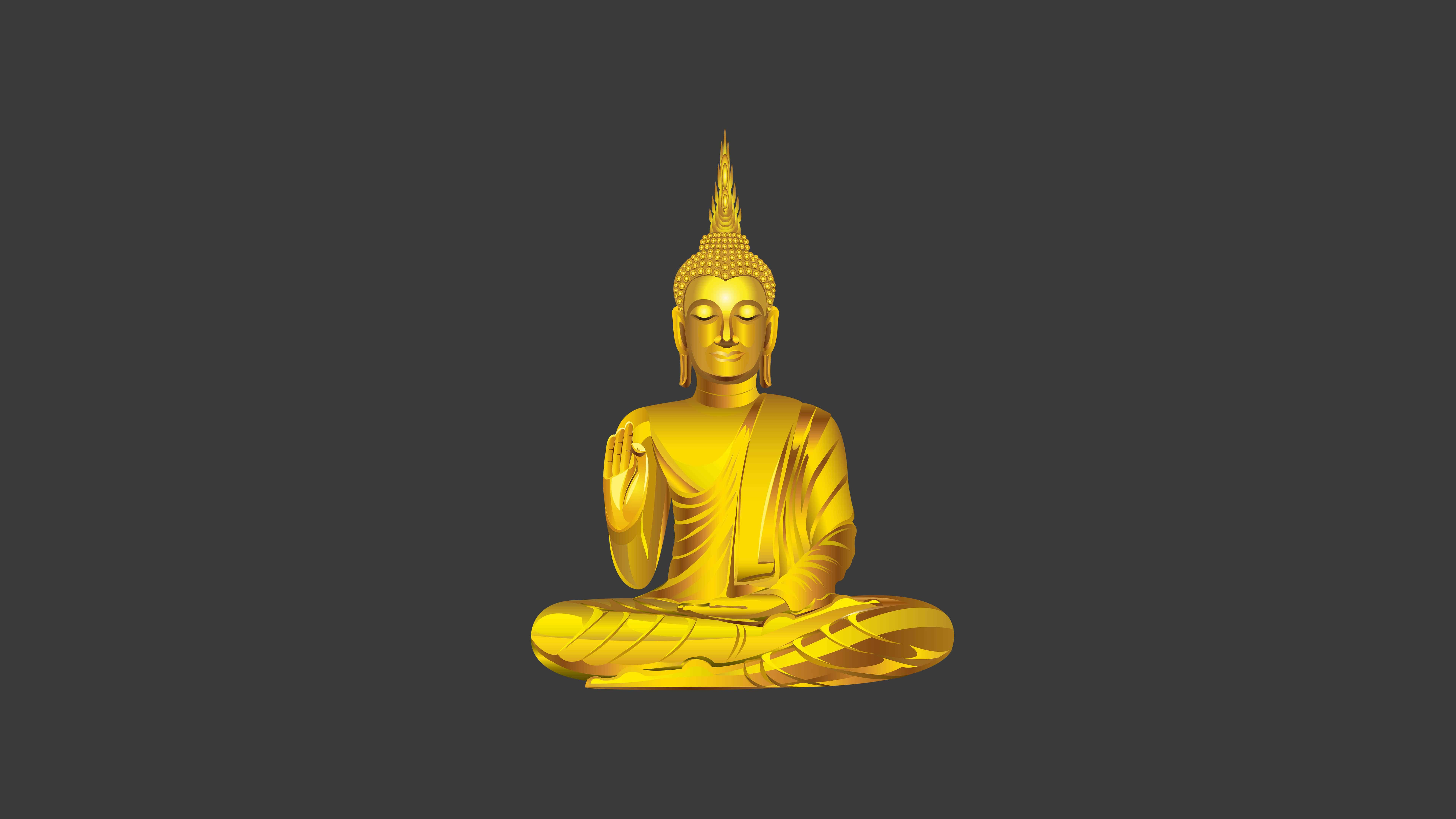 gautama buddha meditating uhd 8k wallpaper