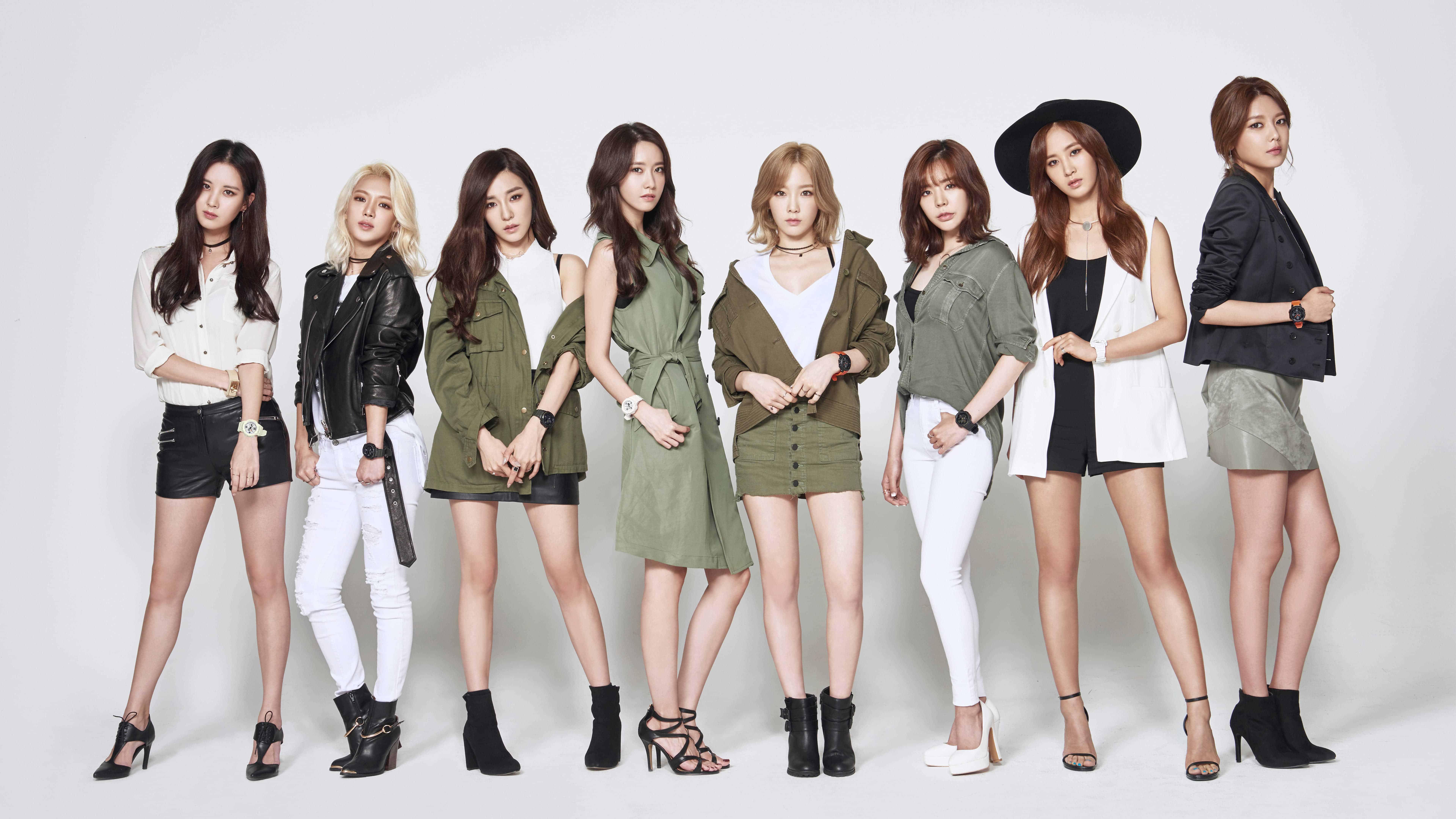 Girls Generation Members Casio Photoshoot Uhd 8k Wallpaper