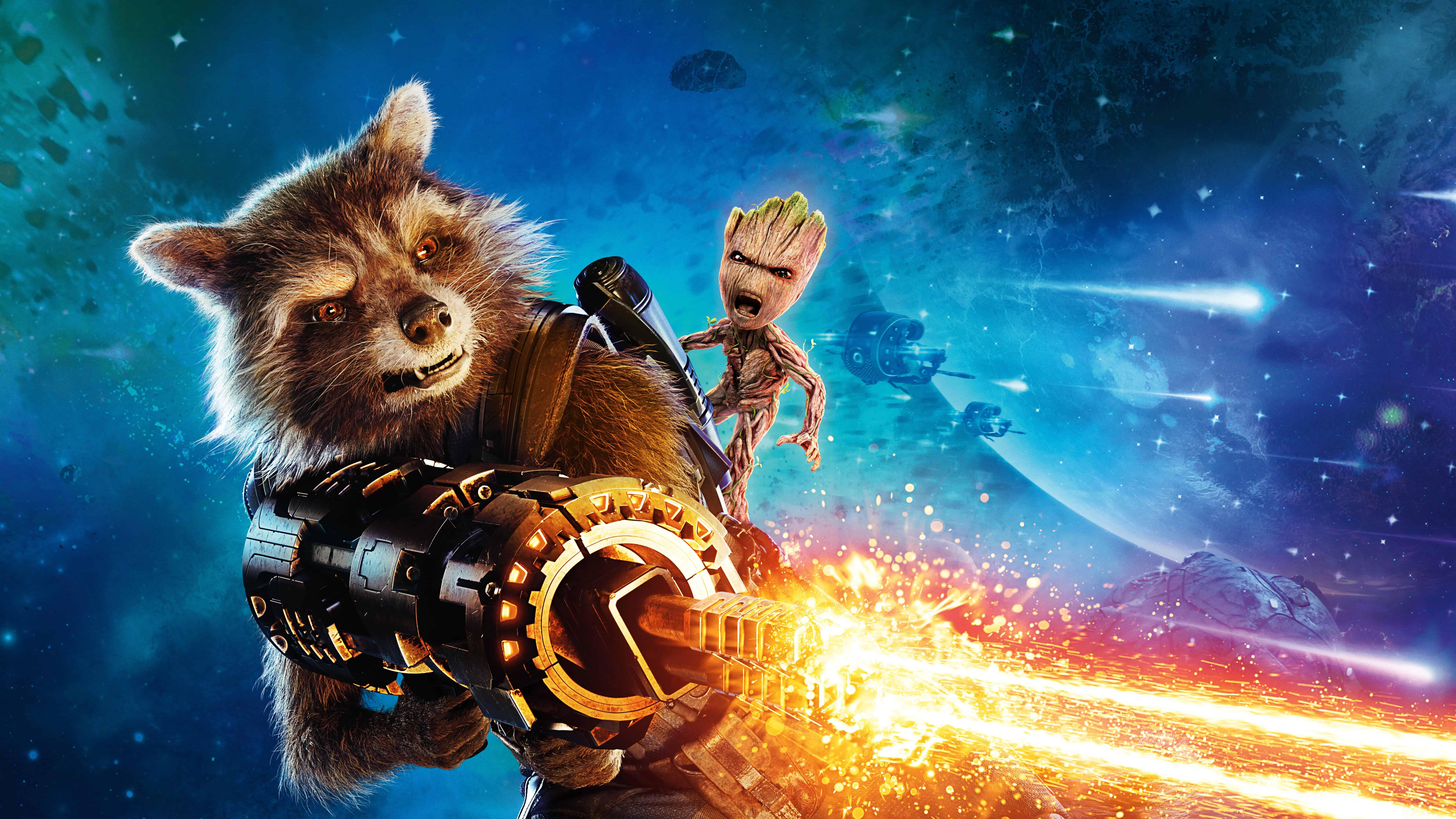 Guardians Of The Galaxy Vol 2 Wallpaper: Guardians Of The Galaxy Vol 2 Rocket UHD 8K Wallpaper