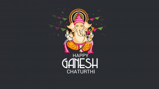 happy ganesh chaturthi uhd 8k wallpaper