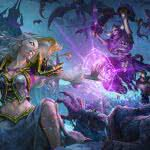 hearthstone knights of the frozen throne card game uhd 8k wallpaper