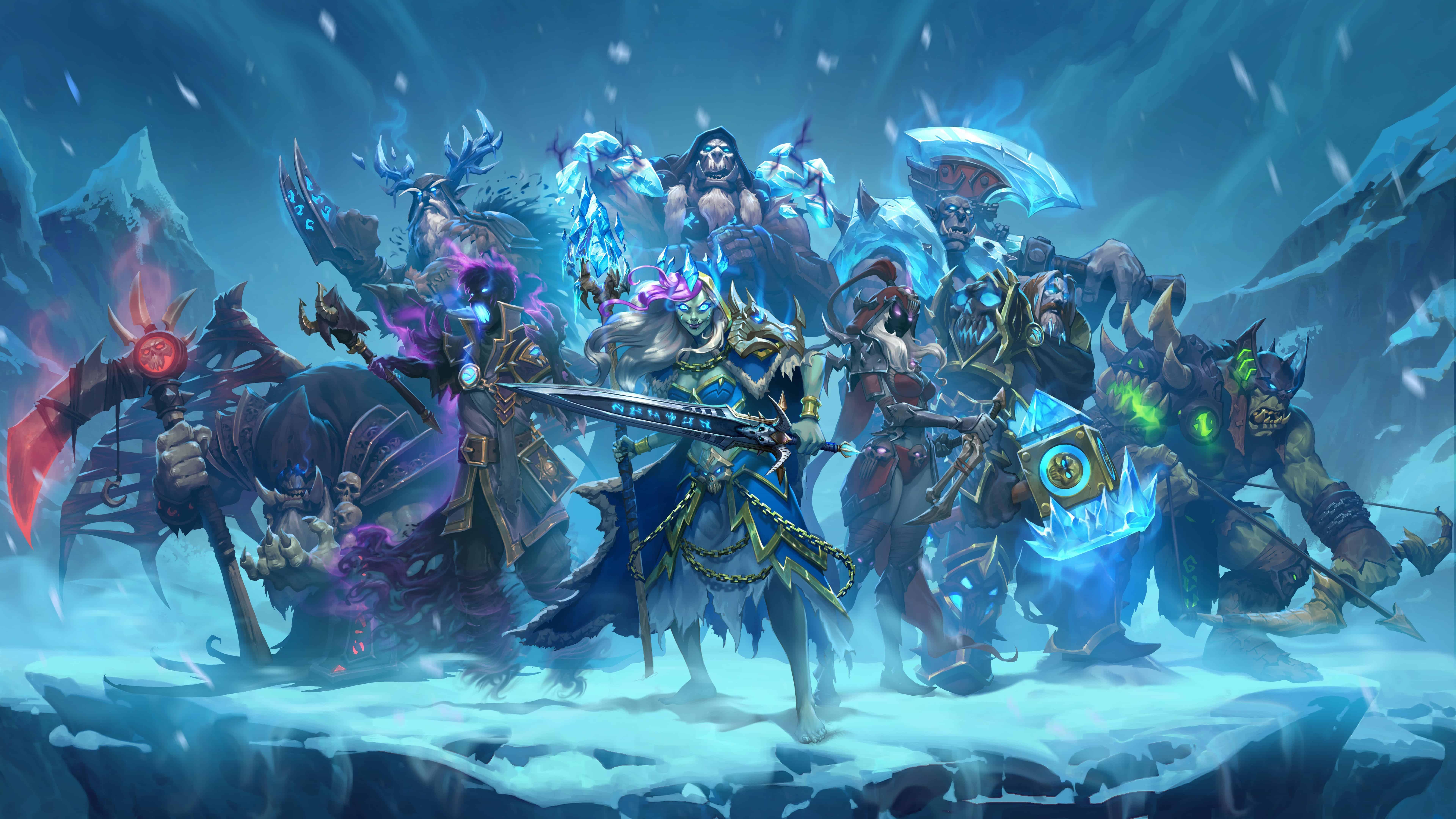hearthstone knights of the frozen throne uhd 8k wallpaper