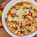 homemade vegetarian pizza uhd 8k wallpaper