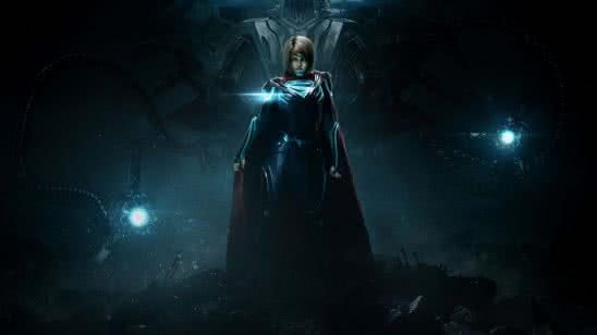 injustice 2 supergirl uhd 8k wallpaper