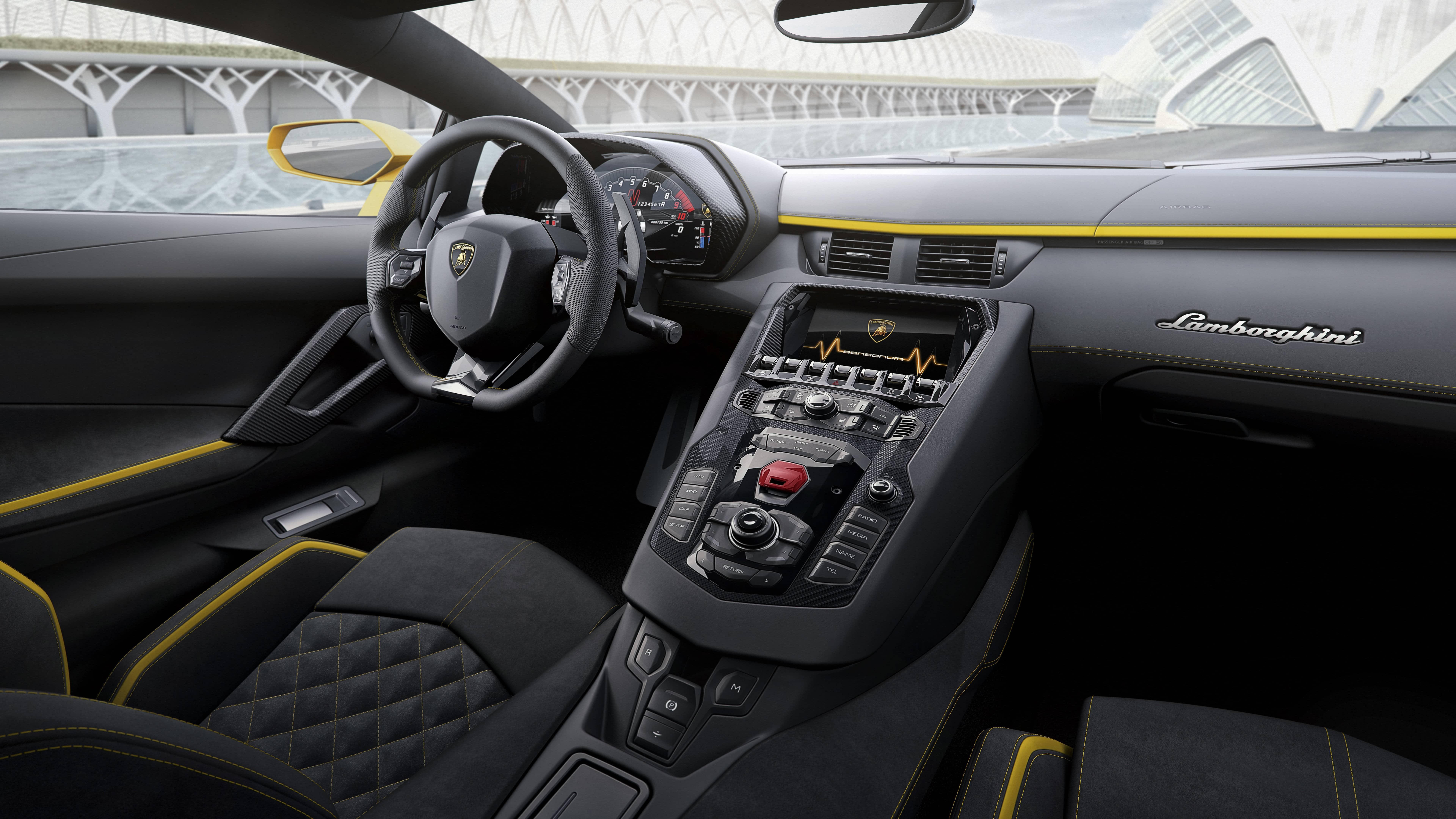 Lamborghini Aventador S 2017 Interior Uhd 8k Wallpaper Pixelz