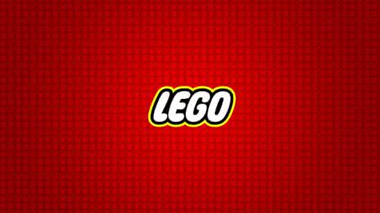 lego logo red background uhd 4k wallpaper
