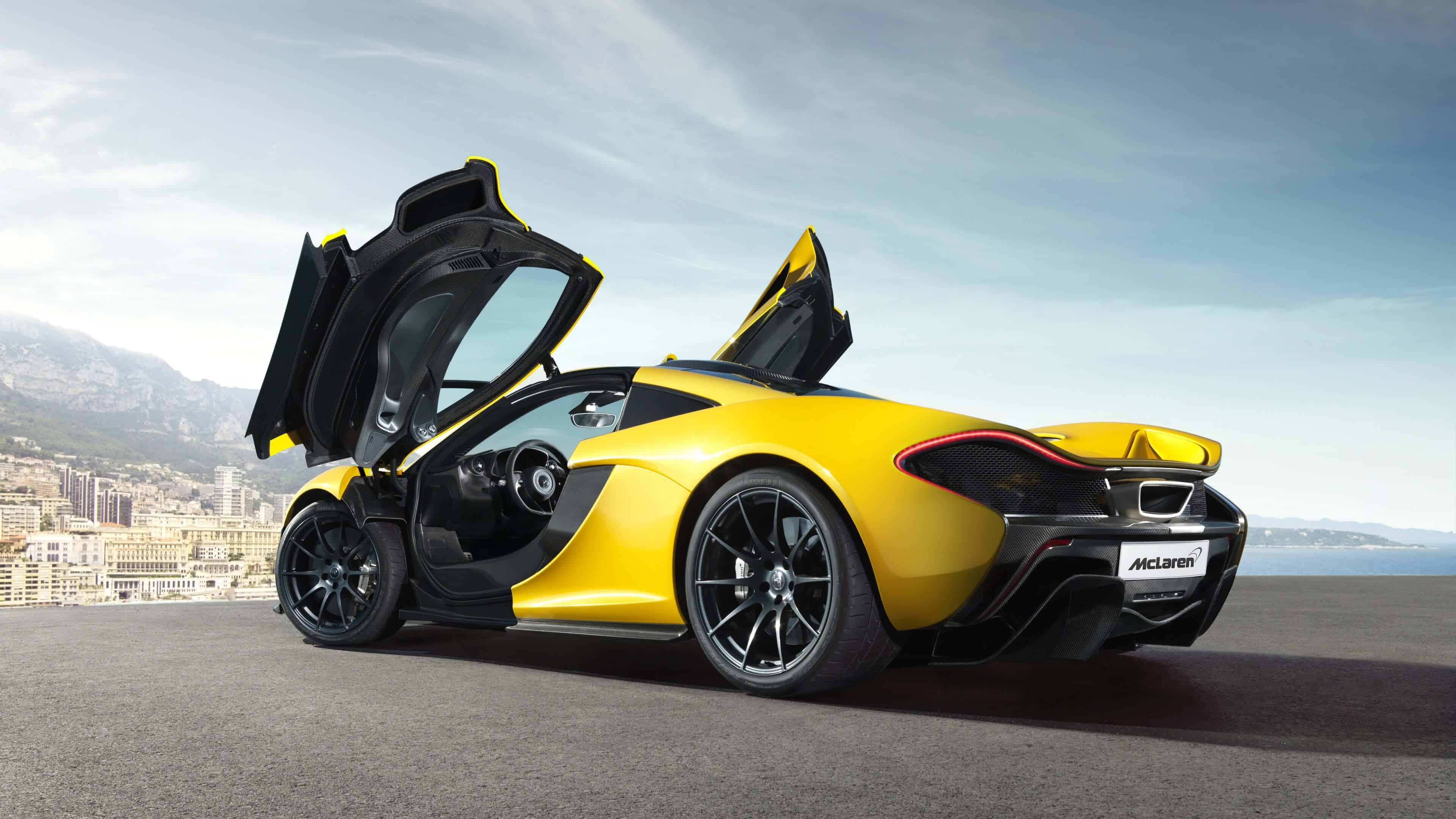 mclaren p1 yellow uhd 4k wallpaper