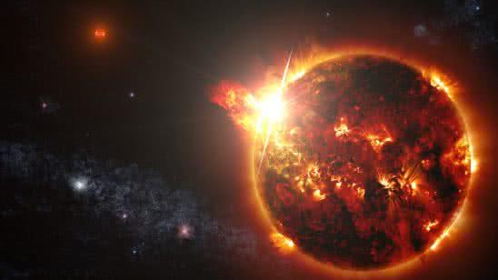 mega flare from mini star dg canum venaticorum uhd 8k wallpaper