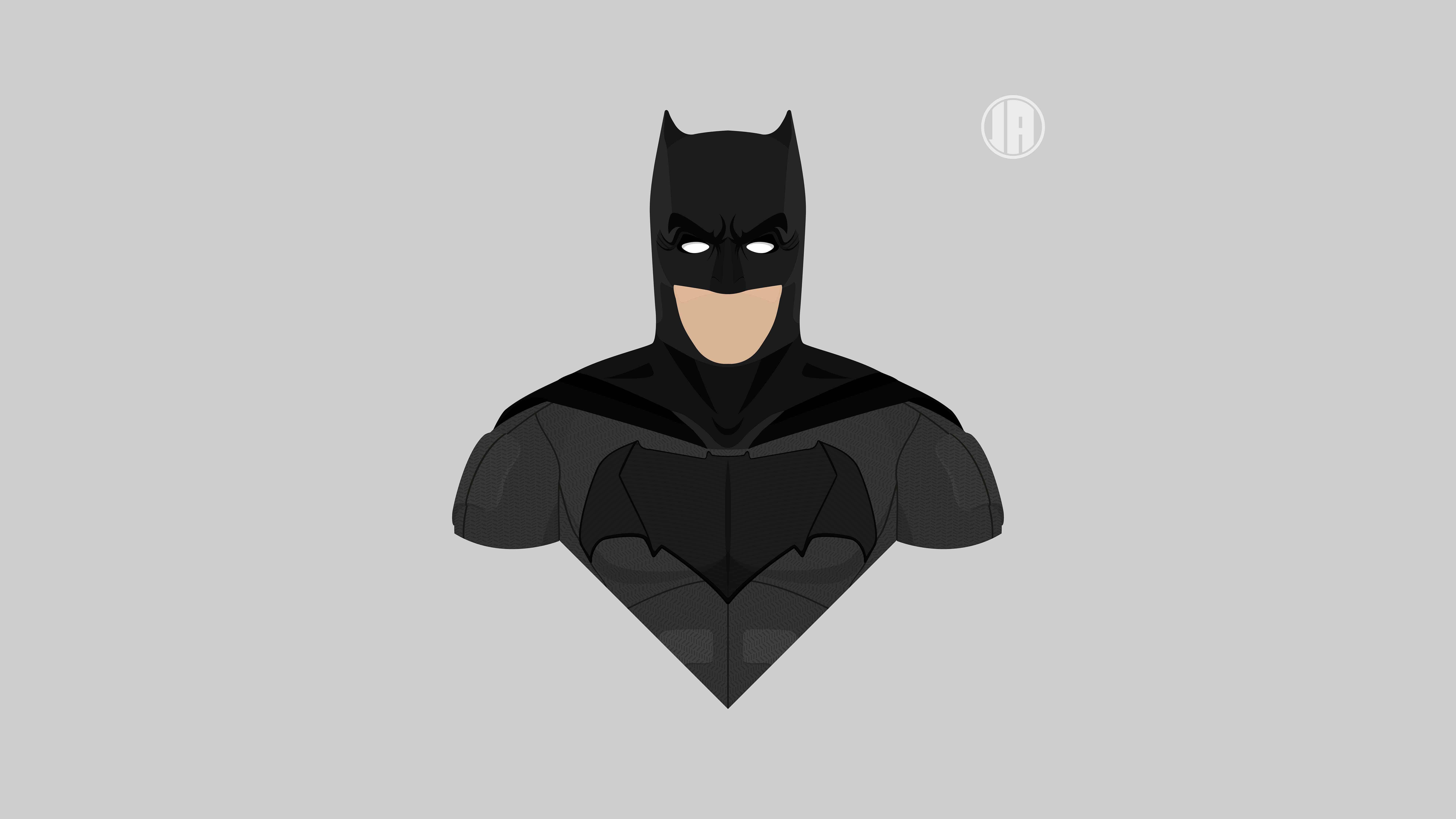 minimalism batman uhd 8k wallpaper