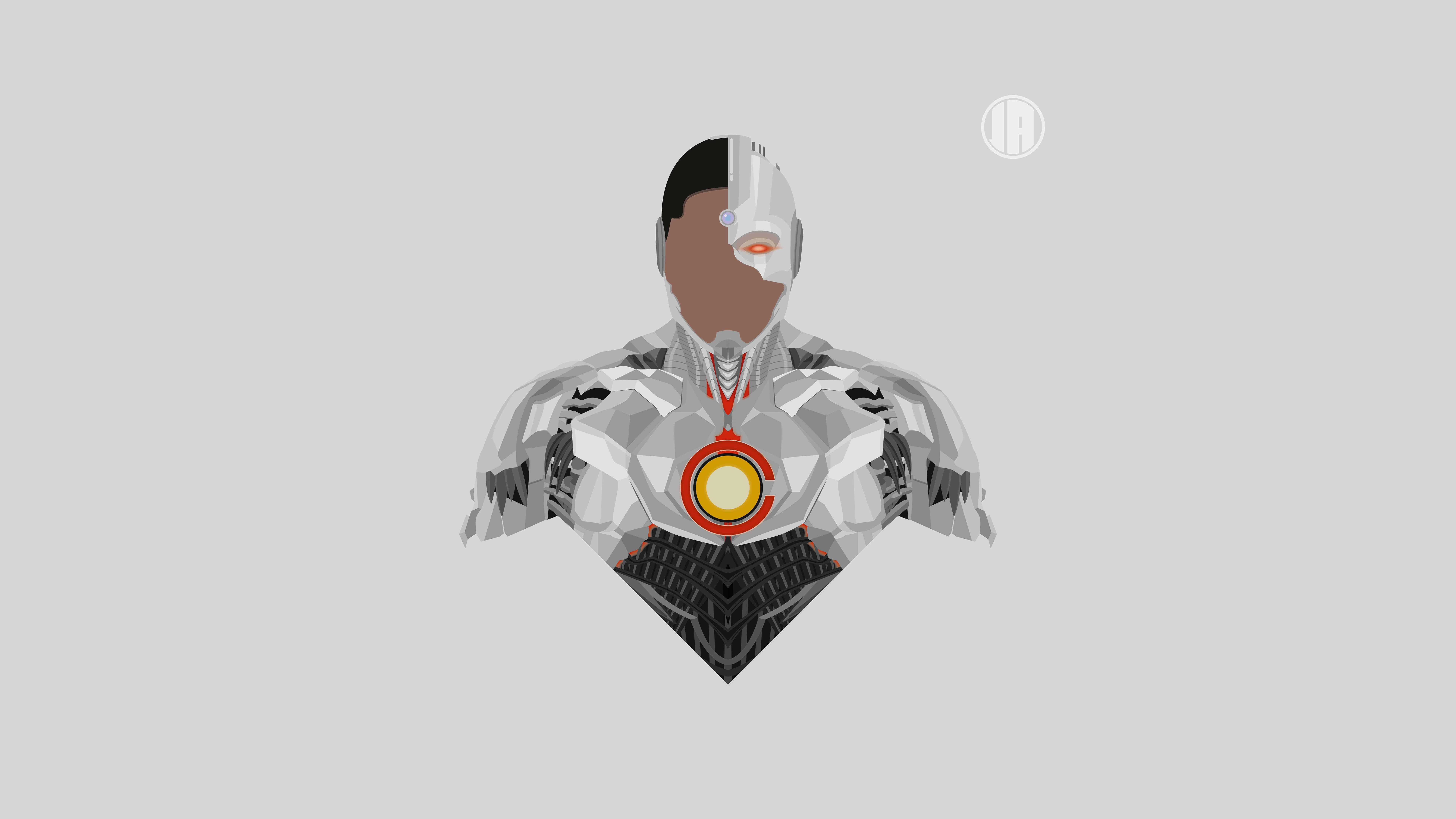 minimalism cyborg uhd 8k wallpaper