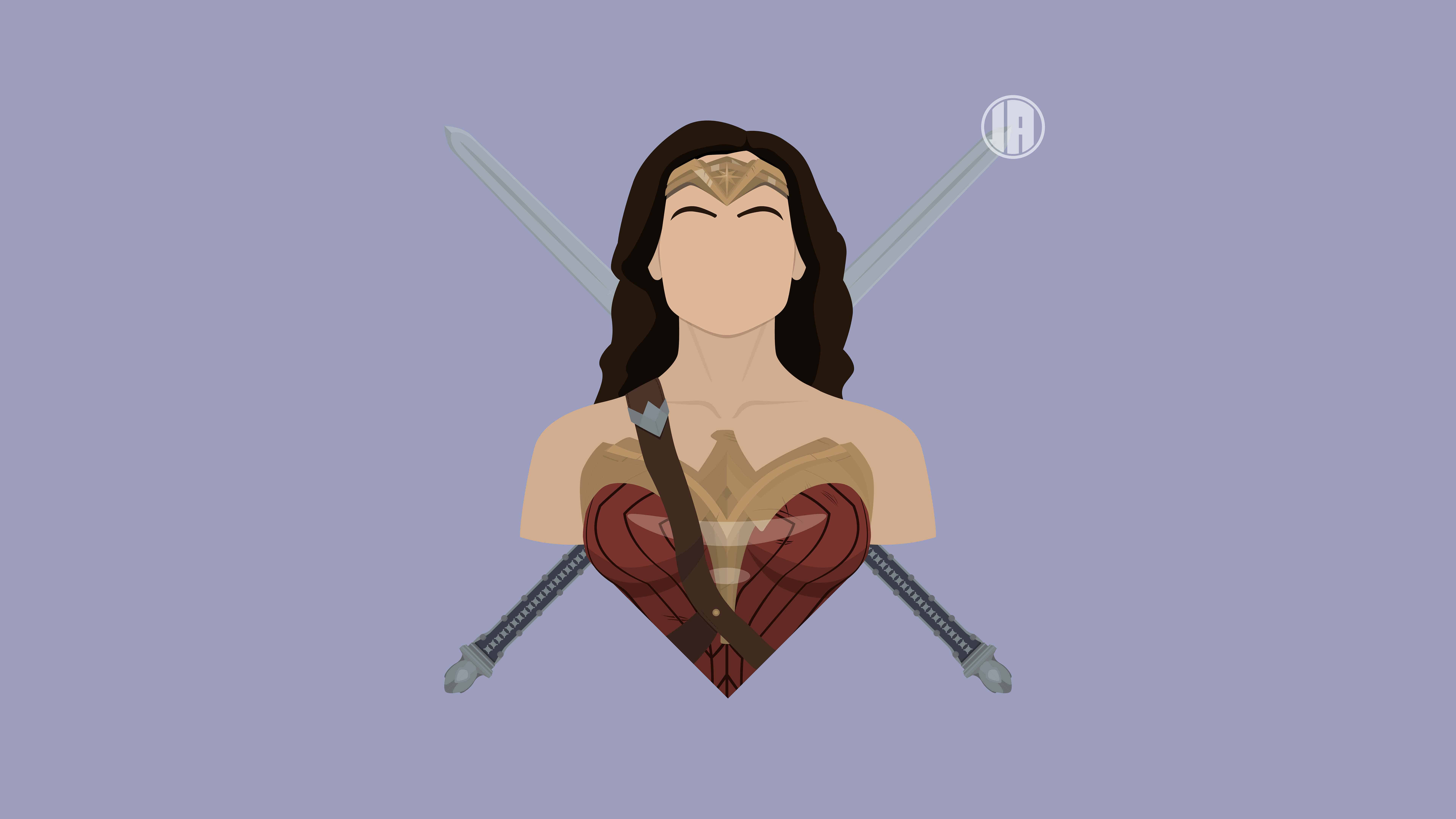 minimalism wonder woman uhd 8k wallpaper