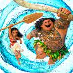 moana and maui water swirl uhd 8k wallpaper