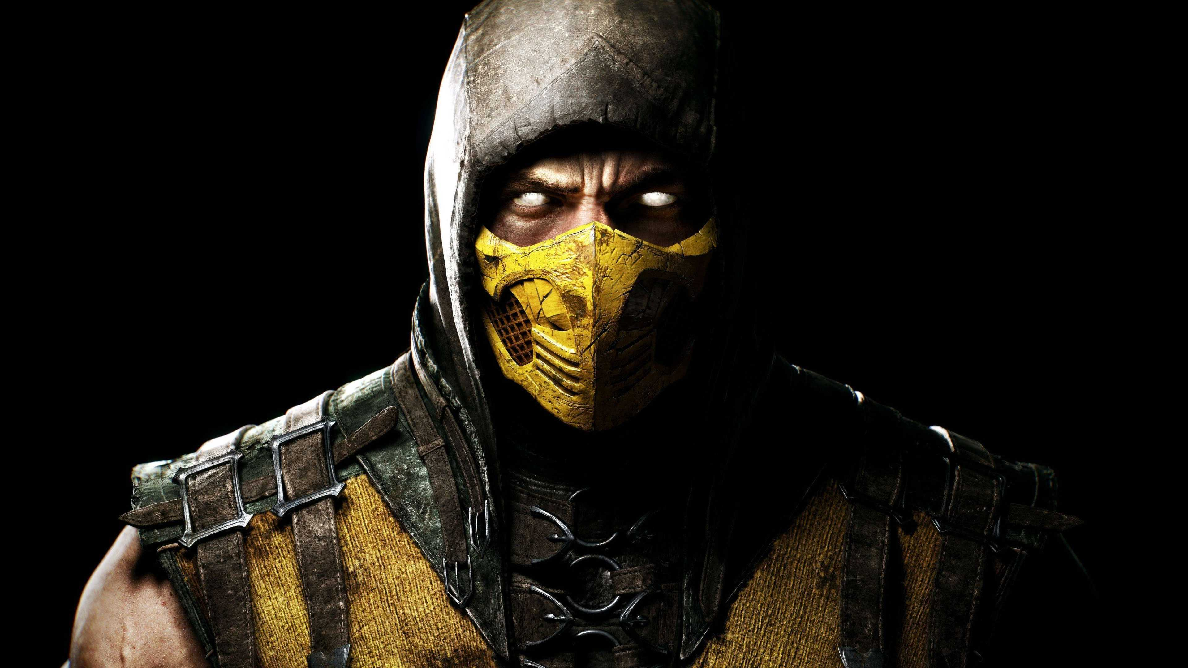 Mortal kombat x scorpion uhd 4k wallpaper pixelz - Mortal kombat scorpion wallpaper ...