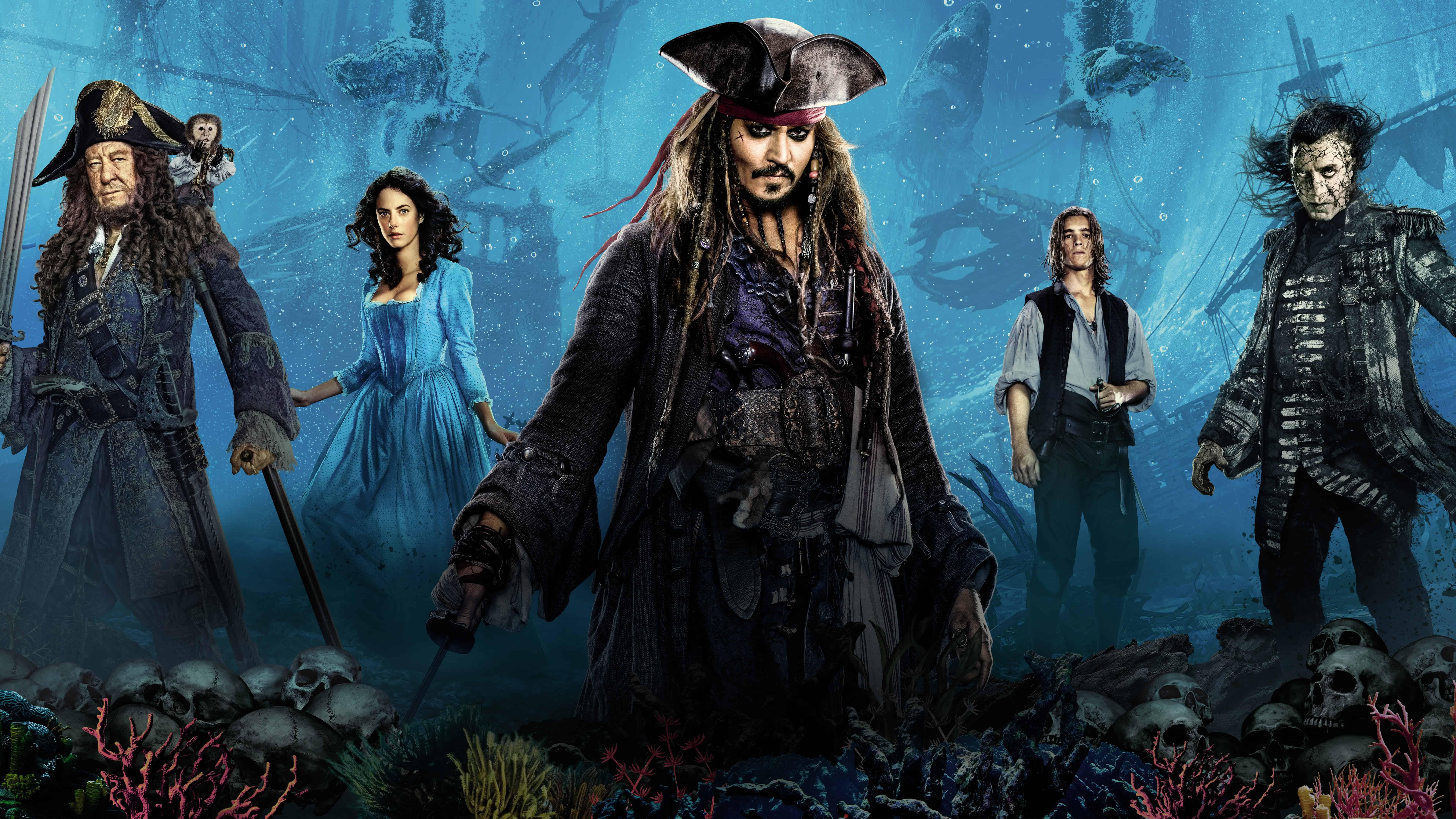Dead Men Tell No Tales Wallpaper: Pirates Of The Caribbean Dead Men Tell No Tales UHD 8K