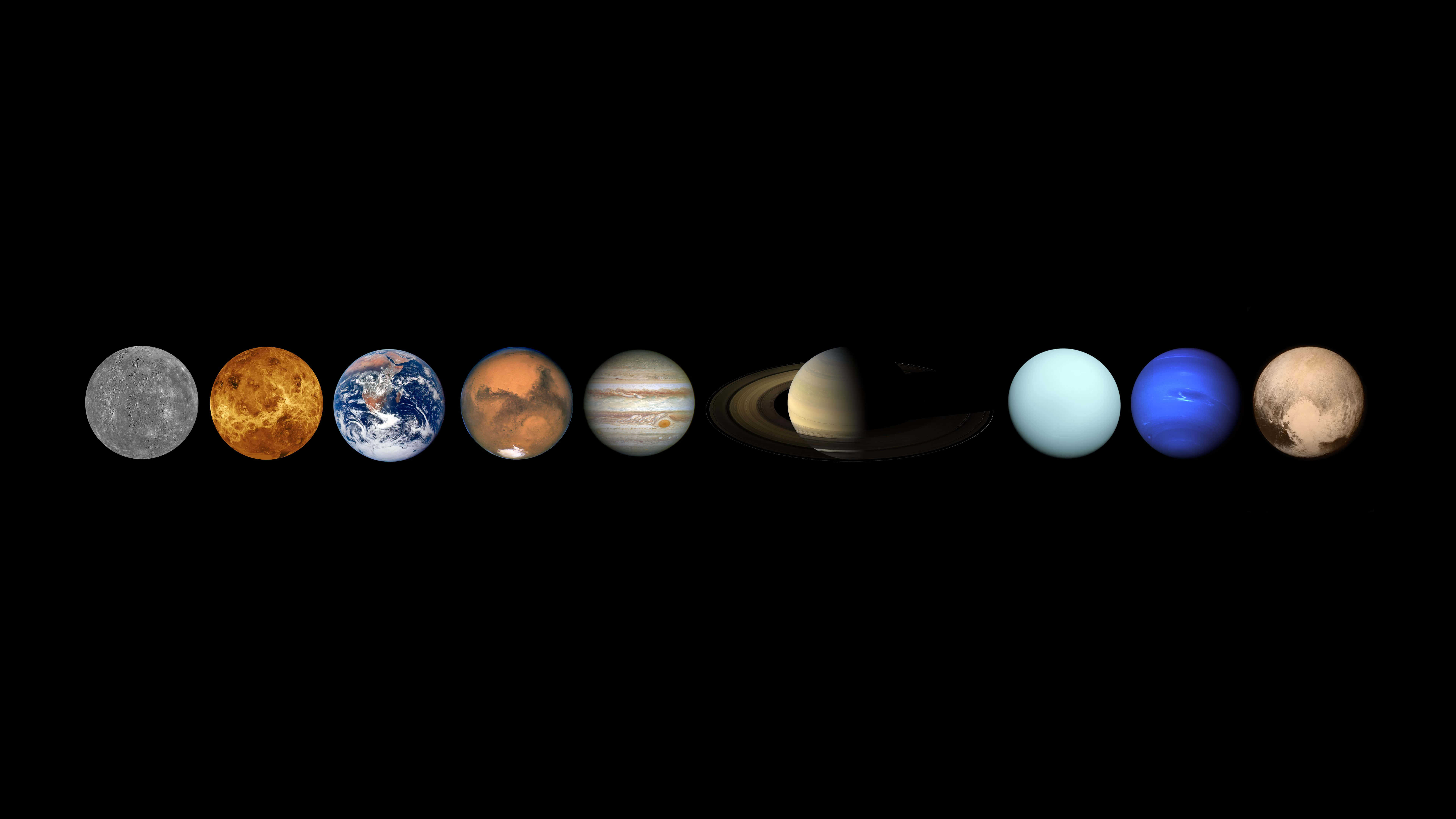 planets in our solar system uhd 8k wallpaper