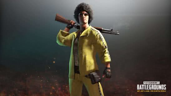 pubg player unknown battlegrounds yellow tracksuit set uhd 4k wallpaper