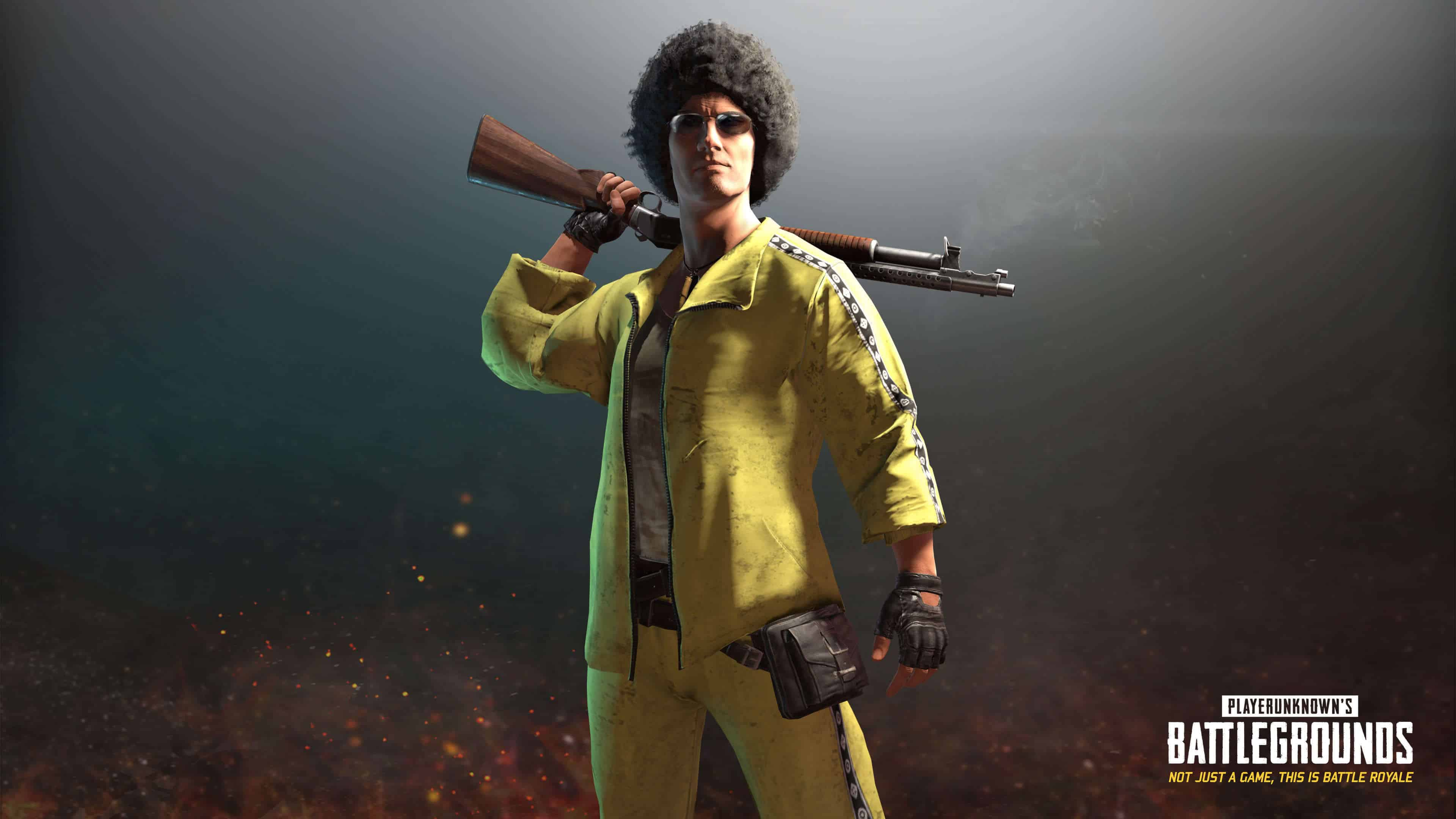 Pubg Wallpaper Dual Monitor: PUBG Player Unknown Battlegrounds Yellow Tracksuit Set UHD