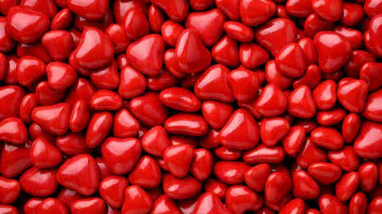 red candy hearts texture uhd 8k wallpaper