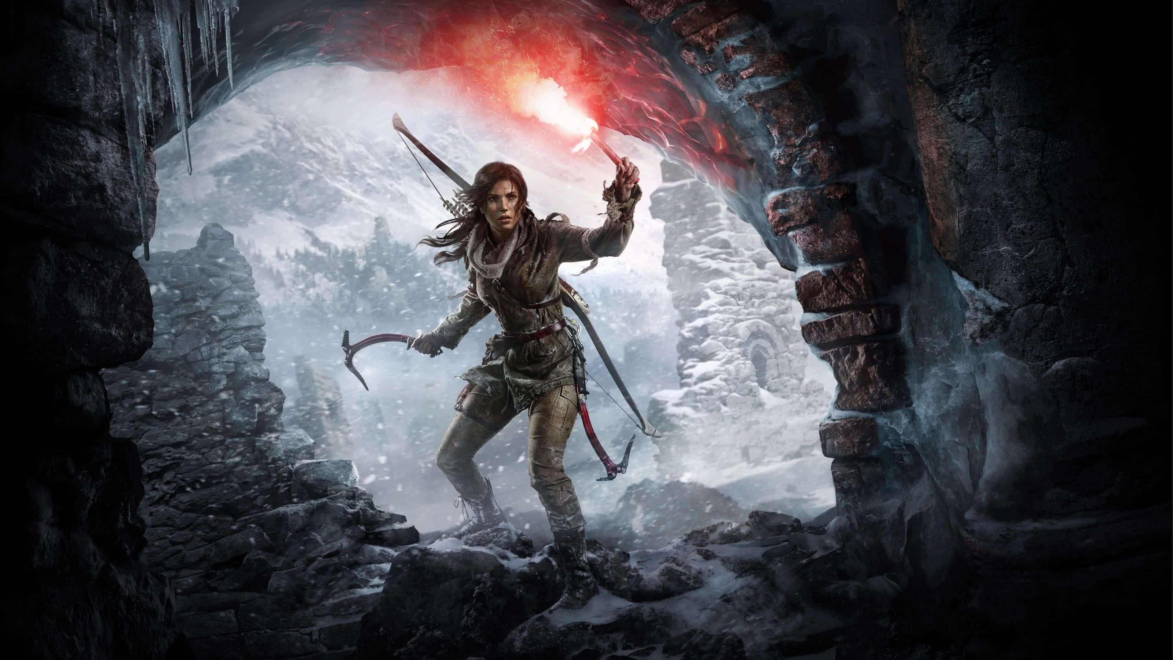 rise of the tomb raider lara croft uhd 4k wallpaper