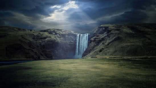 skogafoss waterfall iceland uhd 4k wallpaper
