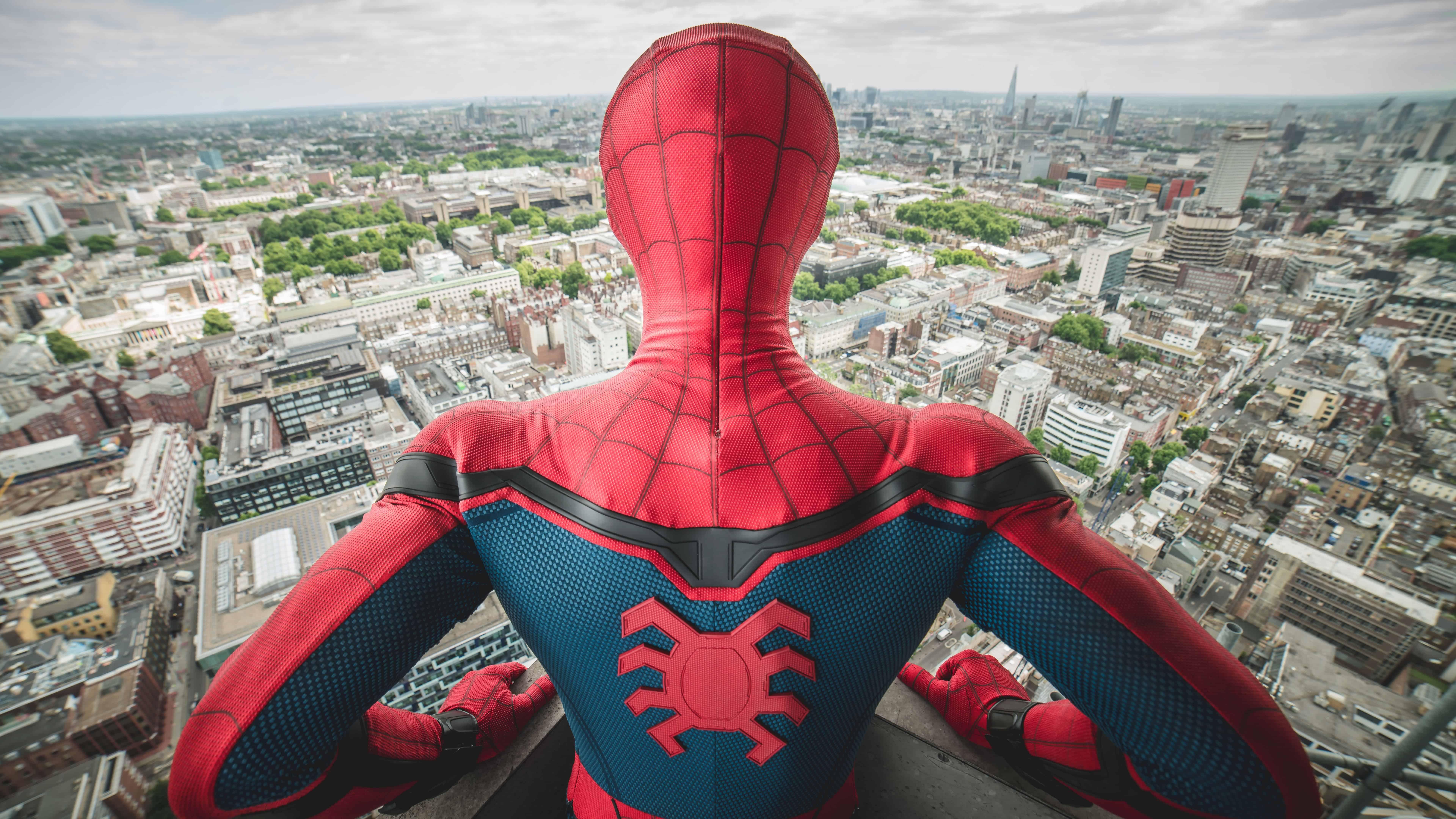 spider man homecoming city uhd 8k wallpaper