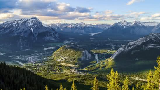 sulphur mountain banff national park alberta canada uhd 4k wallpaper