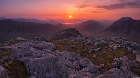 sunrise over west highlands buachaille etive beag glencoe scotland uhd 8k wallpaper