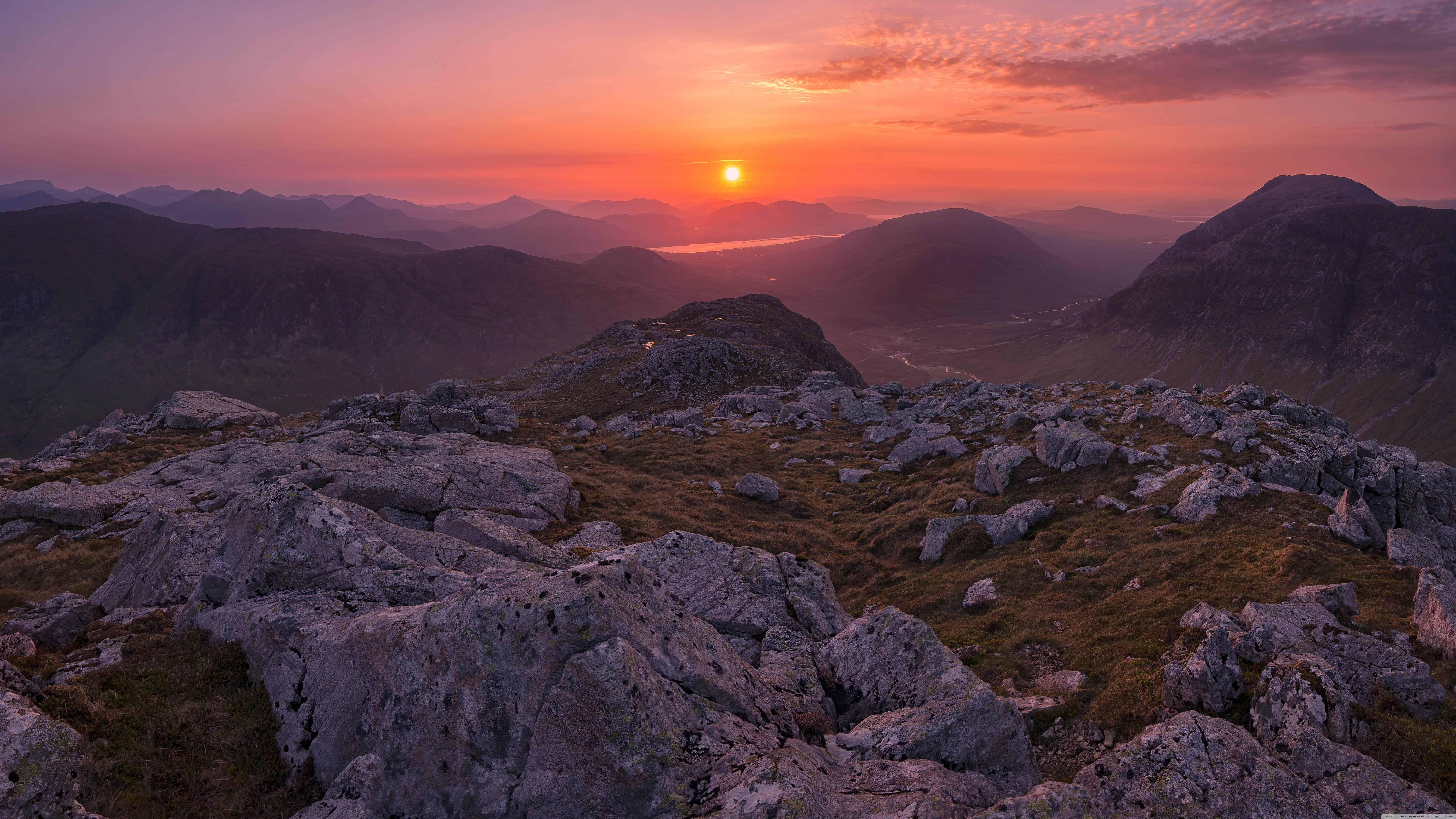sunrise over west highlands buachaille etive beag glencoe scotland uhd 8k wallpaper
