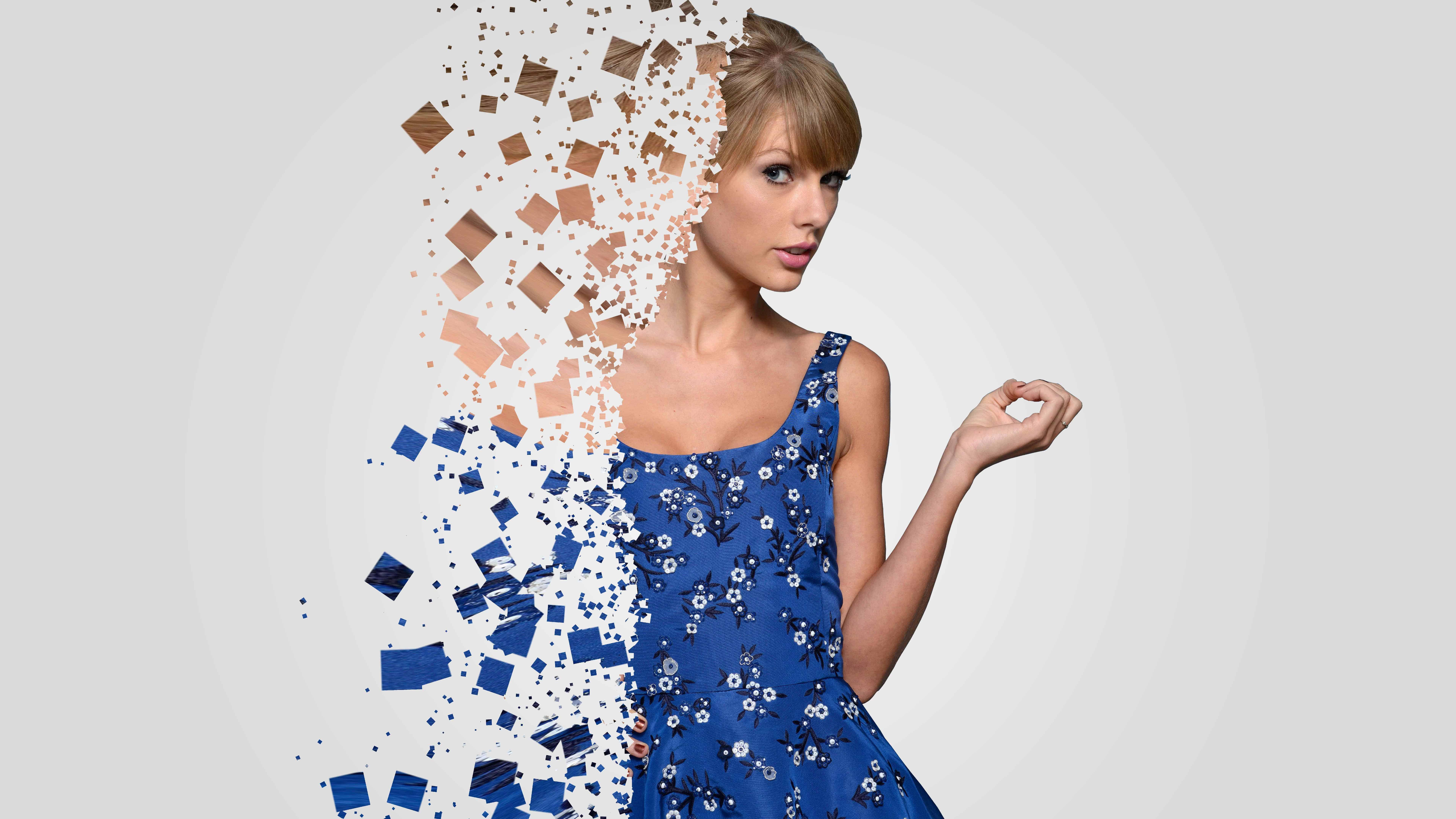 taylor swift blue dress uhd 8k wallpaper