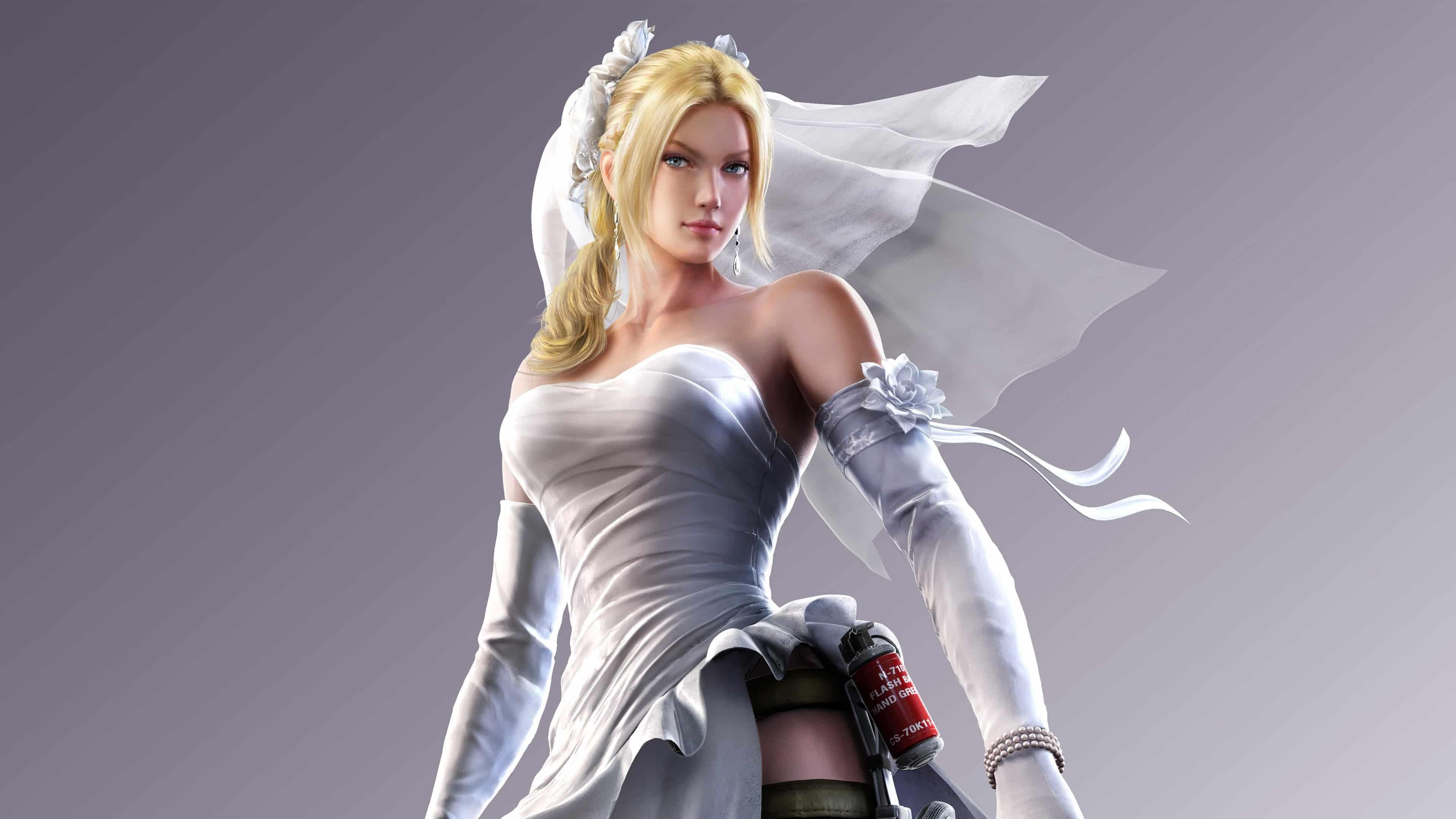 Tekken Nina Williams Wedding Dress Uhd 4k Wallpaper Pixelz