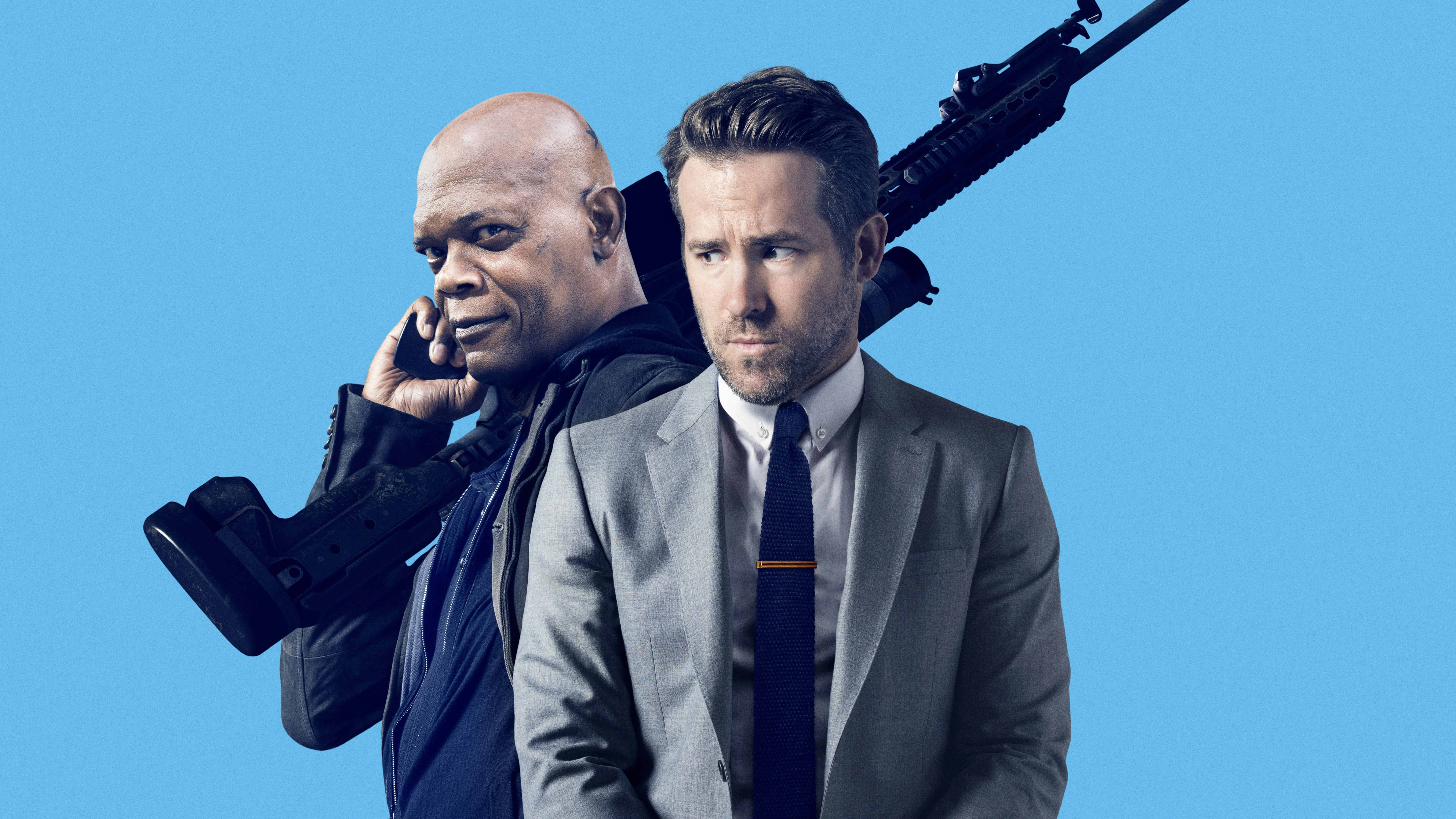 the hitmans bodyguard ryan reynolds and samuel l jackson uhd 8k wallpaper