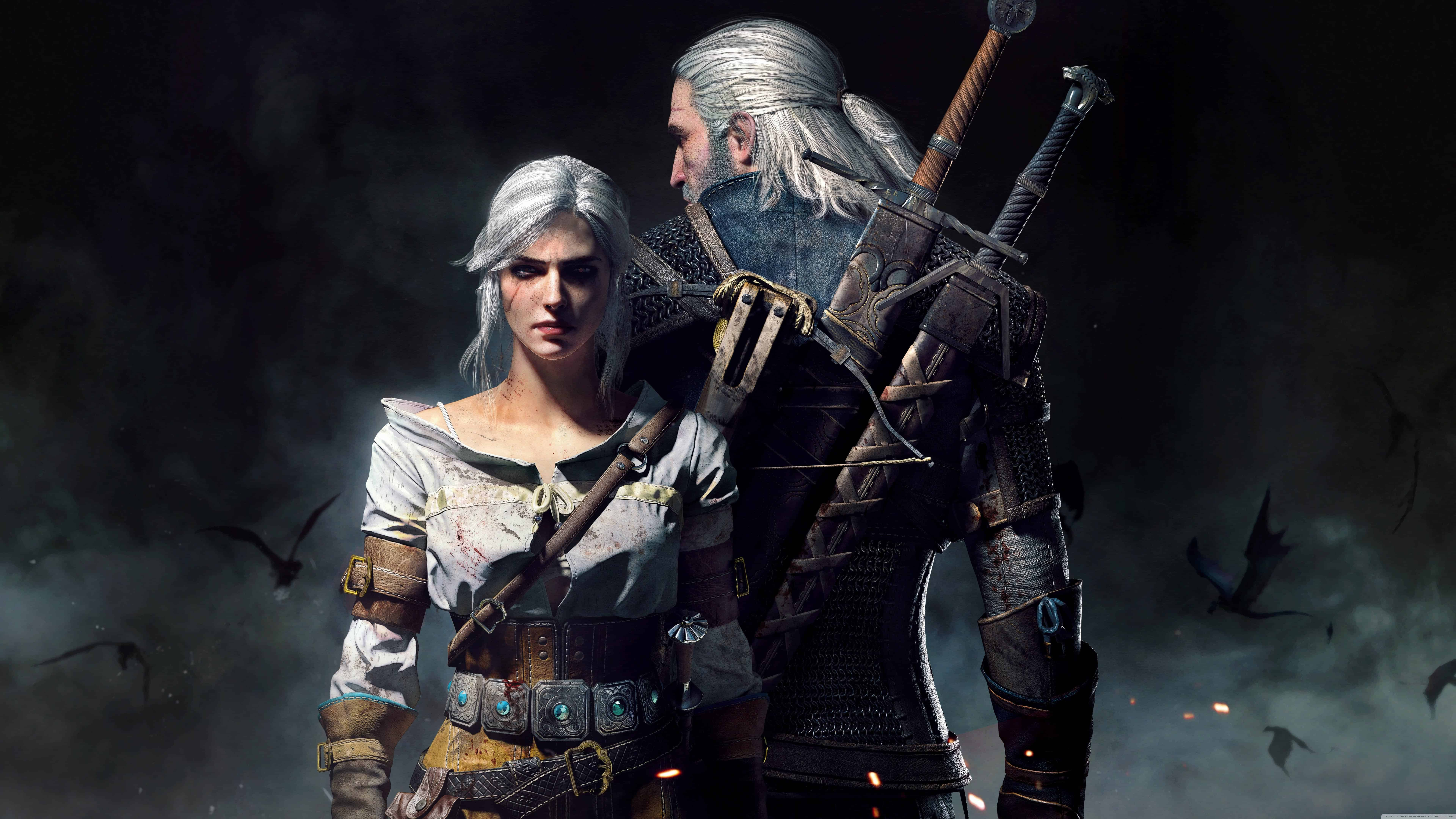 The Witcher 3 Wild Hunt Geralt And Ciri Uhd 8k Wallpaper