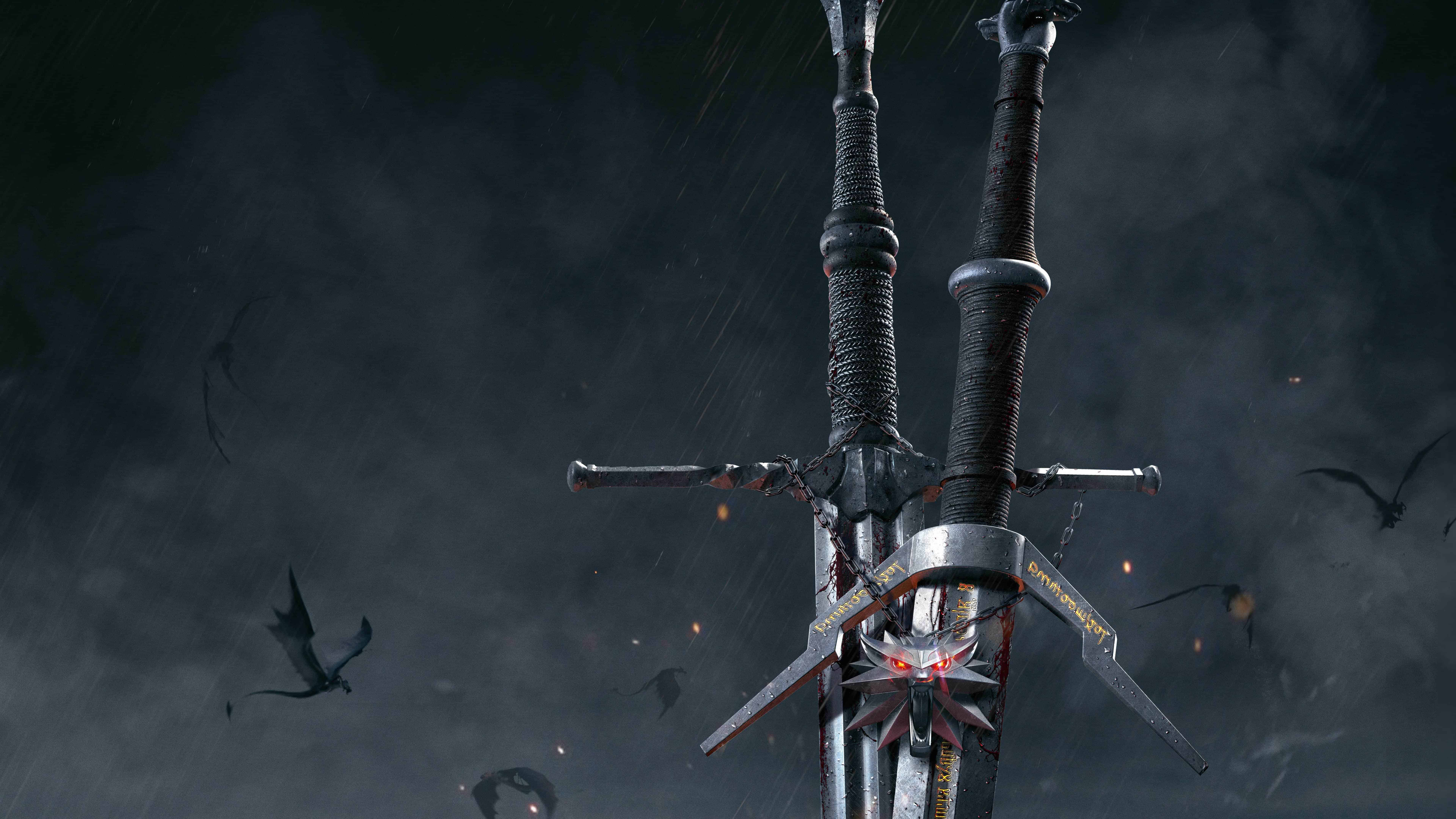 The Witcher 3 Wild Hunt Swords Uhd 8k Wallpaper Pixelz