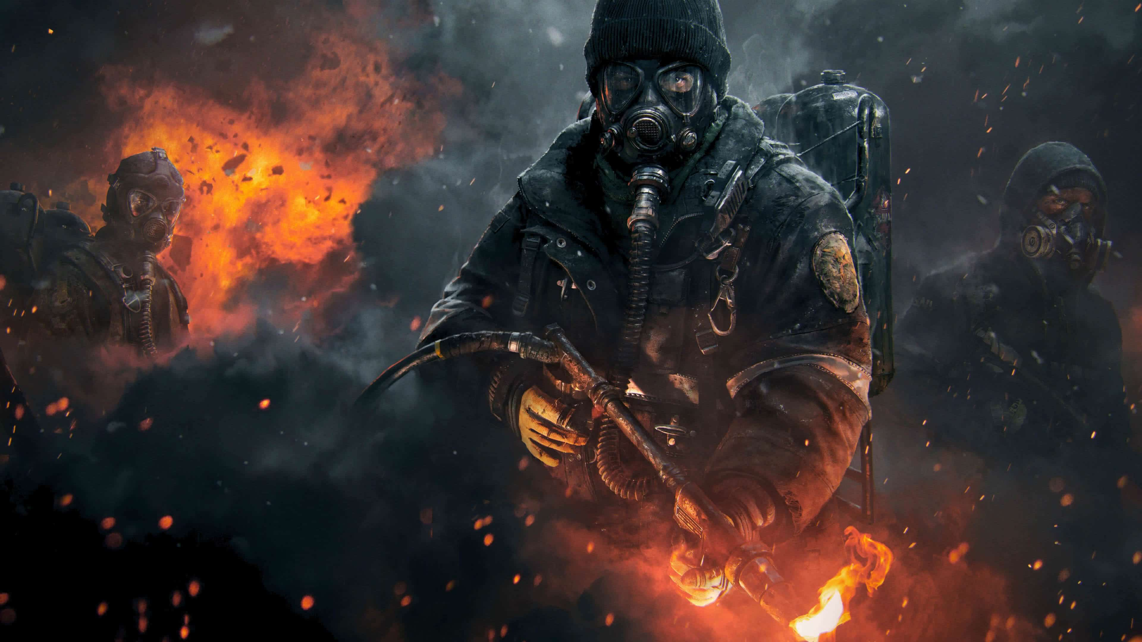 tom clancys the division flame thrower uhd 4k wallpaper