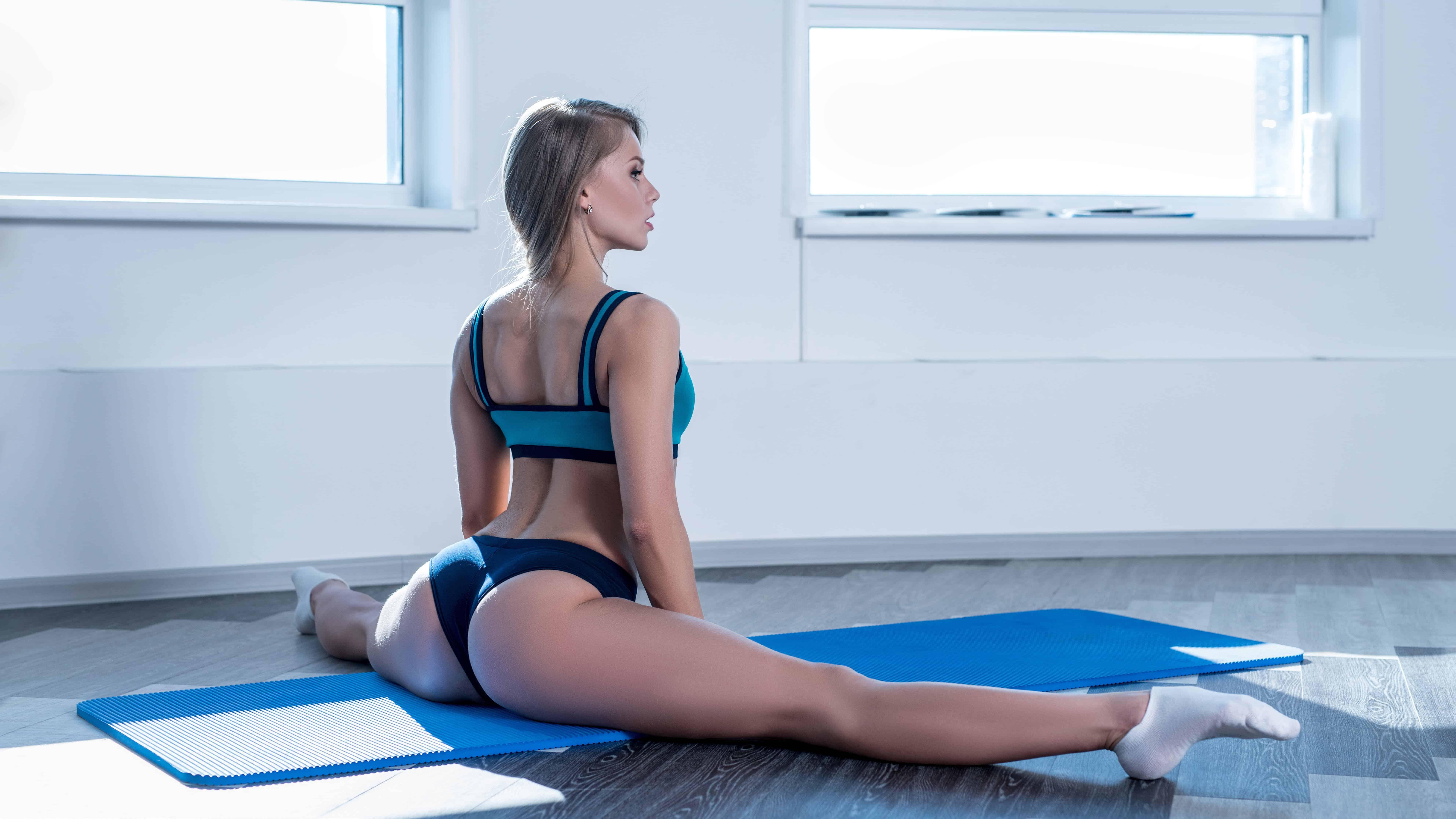 yoga leg split uhd 8k wallpaper